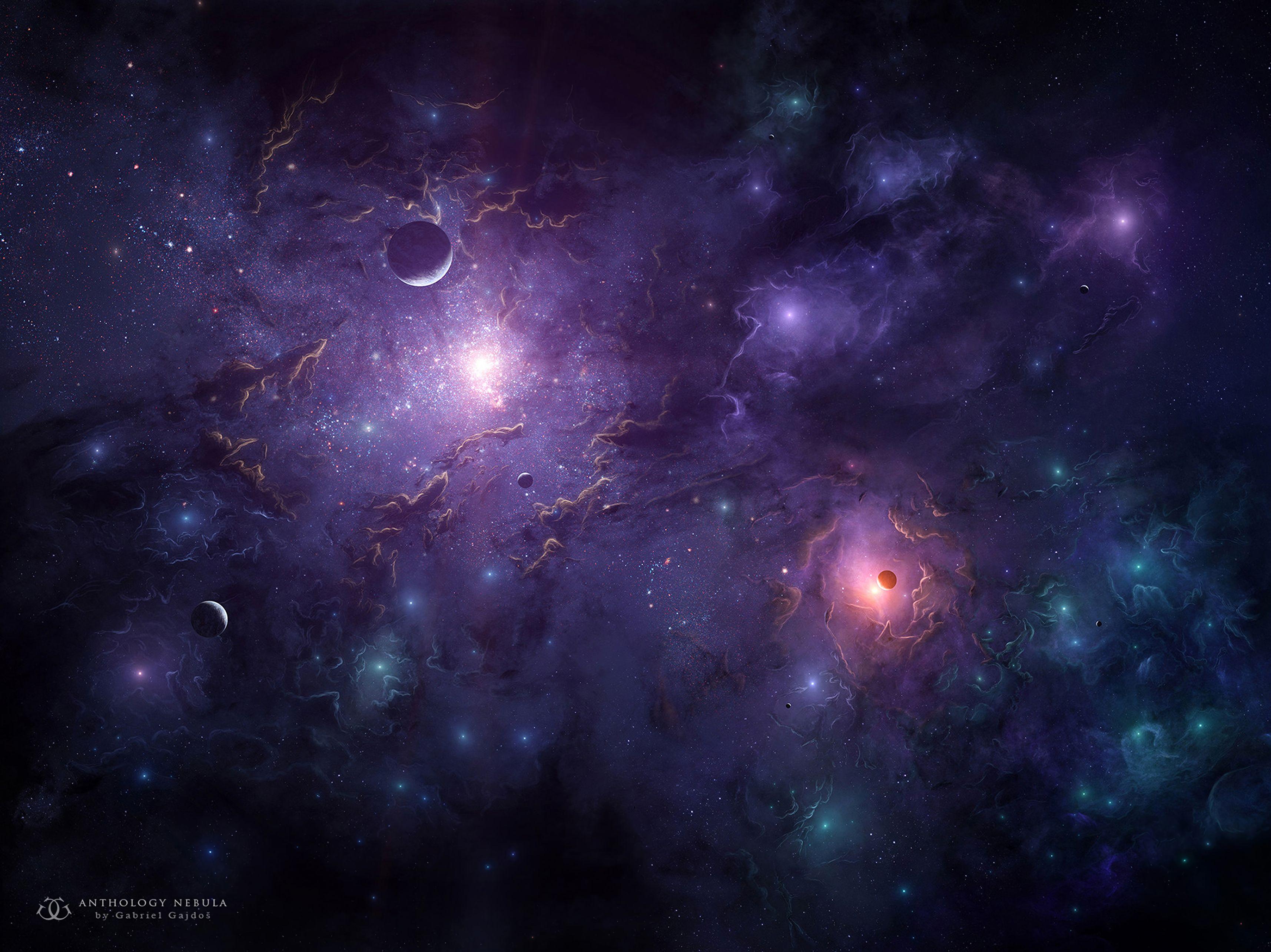 126760 Hintergrundbild herunterladen Planets, Universum, Sterne, Clouds, Schein, Galaxis, Galaxy - Bildschirmschoner und Bilder kostenlos