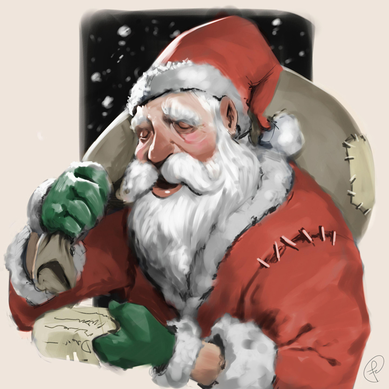 87635 Hintergrundbild herunterladen Feiertage, Kunst, Neujahr, Väterchen Frost, Weihnachtsmann, Weihnachten, Neues Jahr, Die Geschenke, Geschenke - Bildschirmschoner und Bilder kostenlos