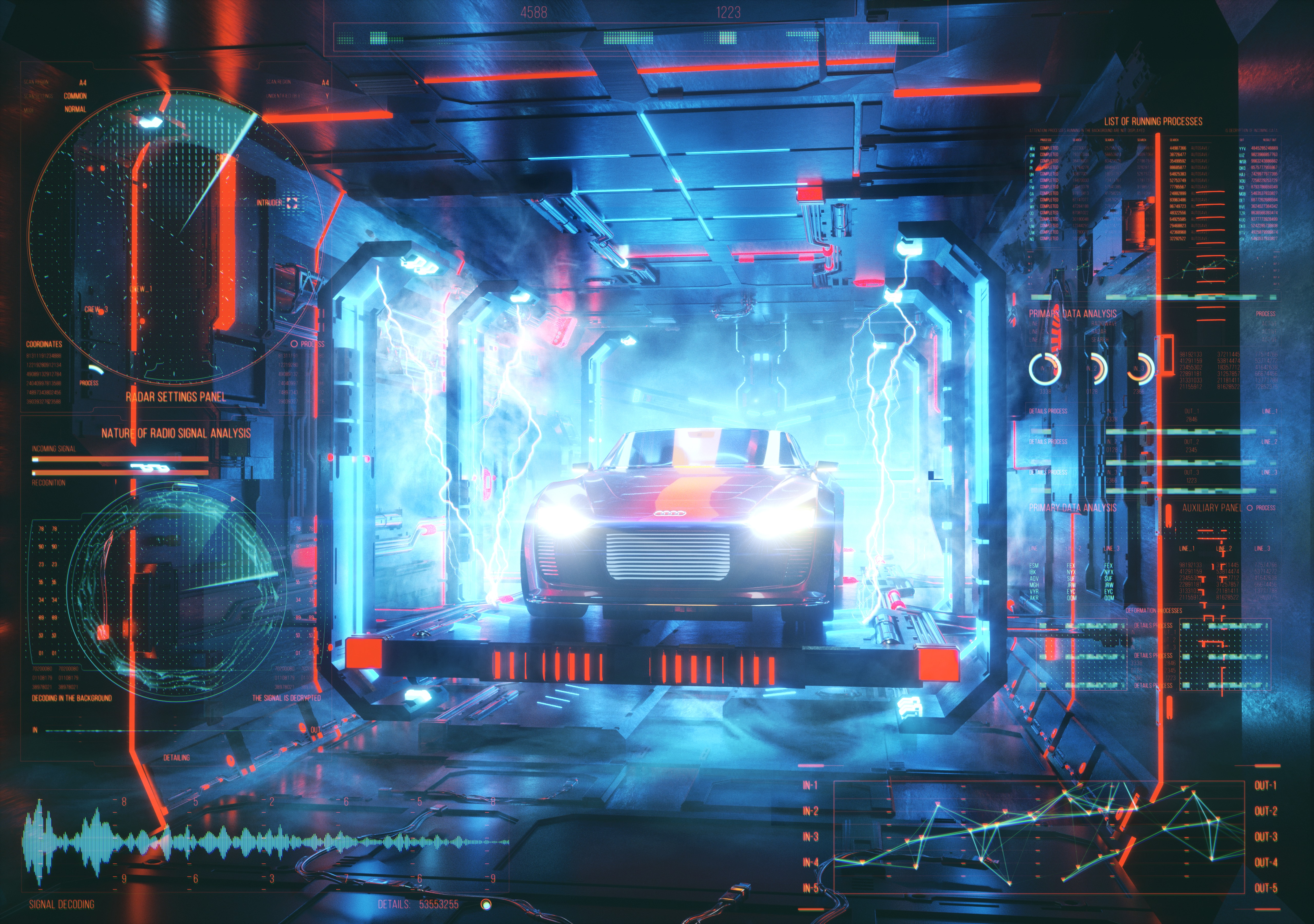 114925 Screensavers and Wallpapers Robot for phone. Download Audi, 3D, Car, Robot, Energy pictures for free