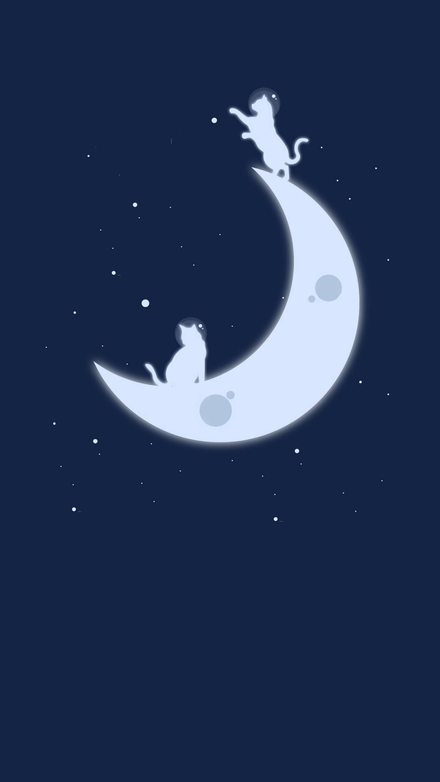 76671 download wallpaper Cats, Art, Stars, Moon, Minimalism screensavers and pictures for free