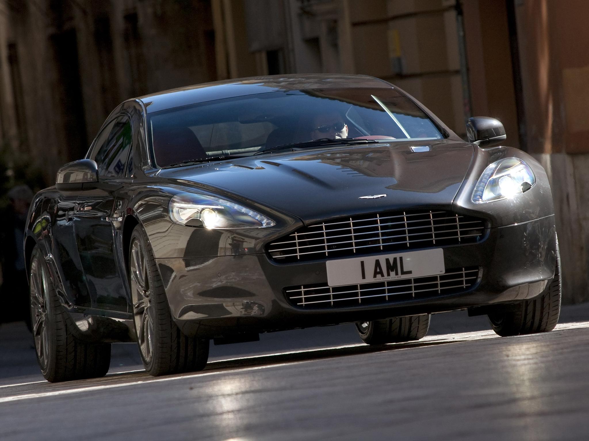78708 скачать обои Машины, Астон Мартин (Aston Martin), Тачки (Cars), Черный, Вид Спереди, Стиль, 2009, Rapide - заставки и картинки бесплатно