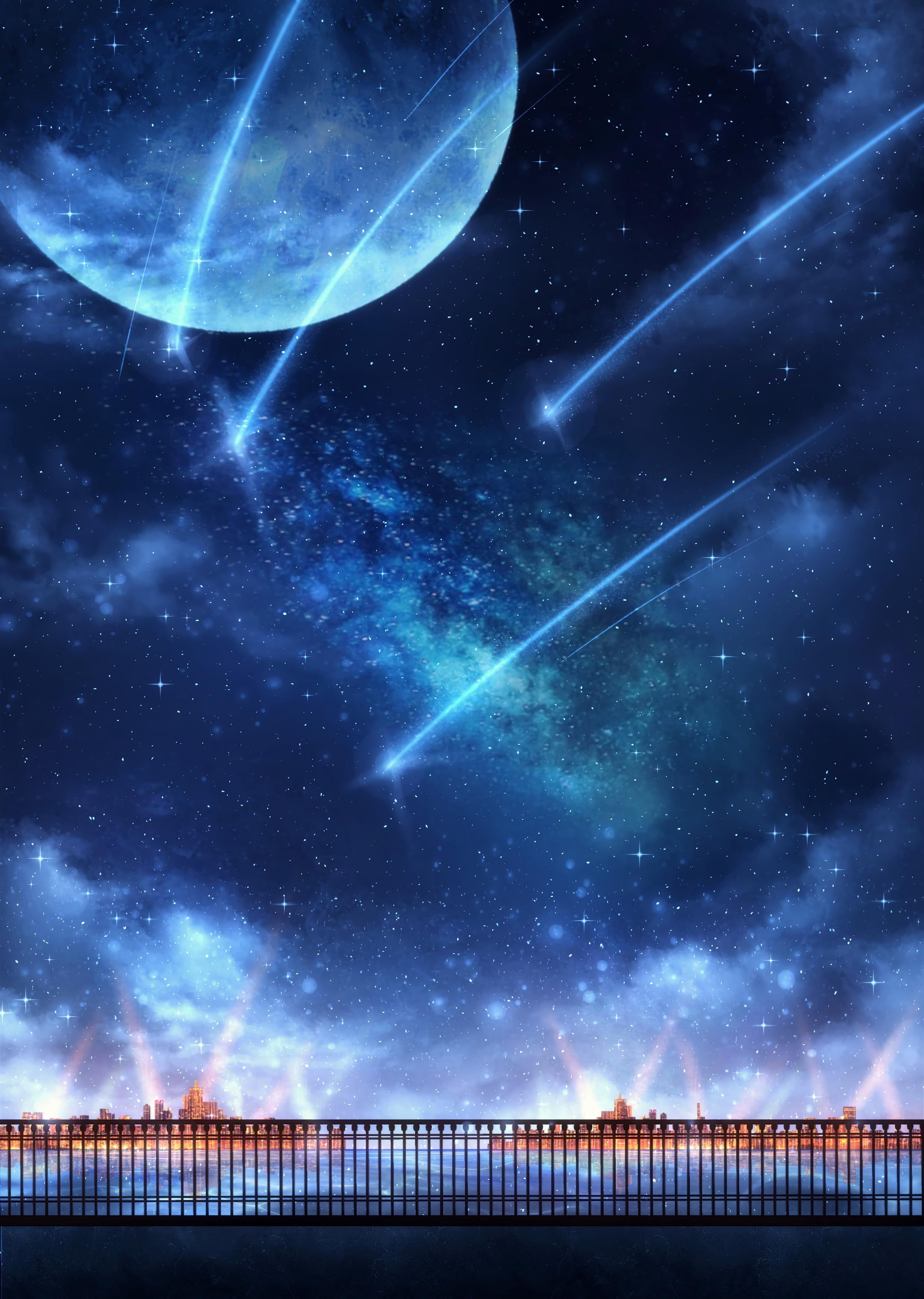 105506 免費下載壁紙 艺术, 月球, 星云, 灯光, 灯具, 粒子, 栅栏 屏保和圖片