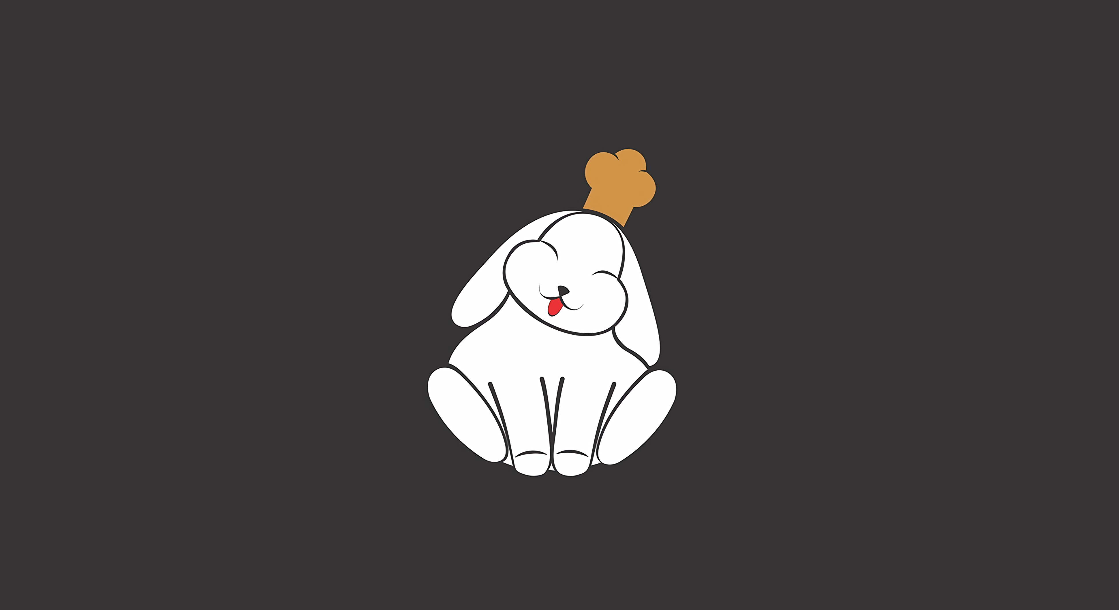 91571 download wallpaper Vector, Rabbit, Funny, Protruding Tongue, Tongue Stuck Out, Art screensavers and pictures for free