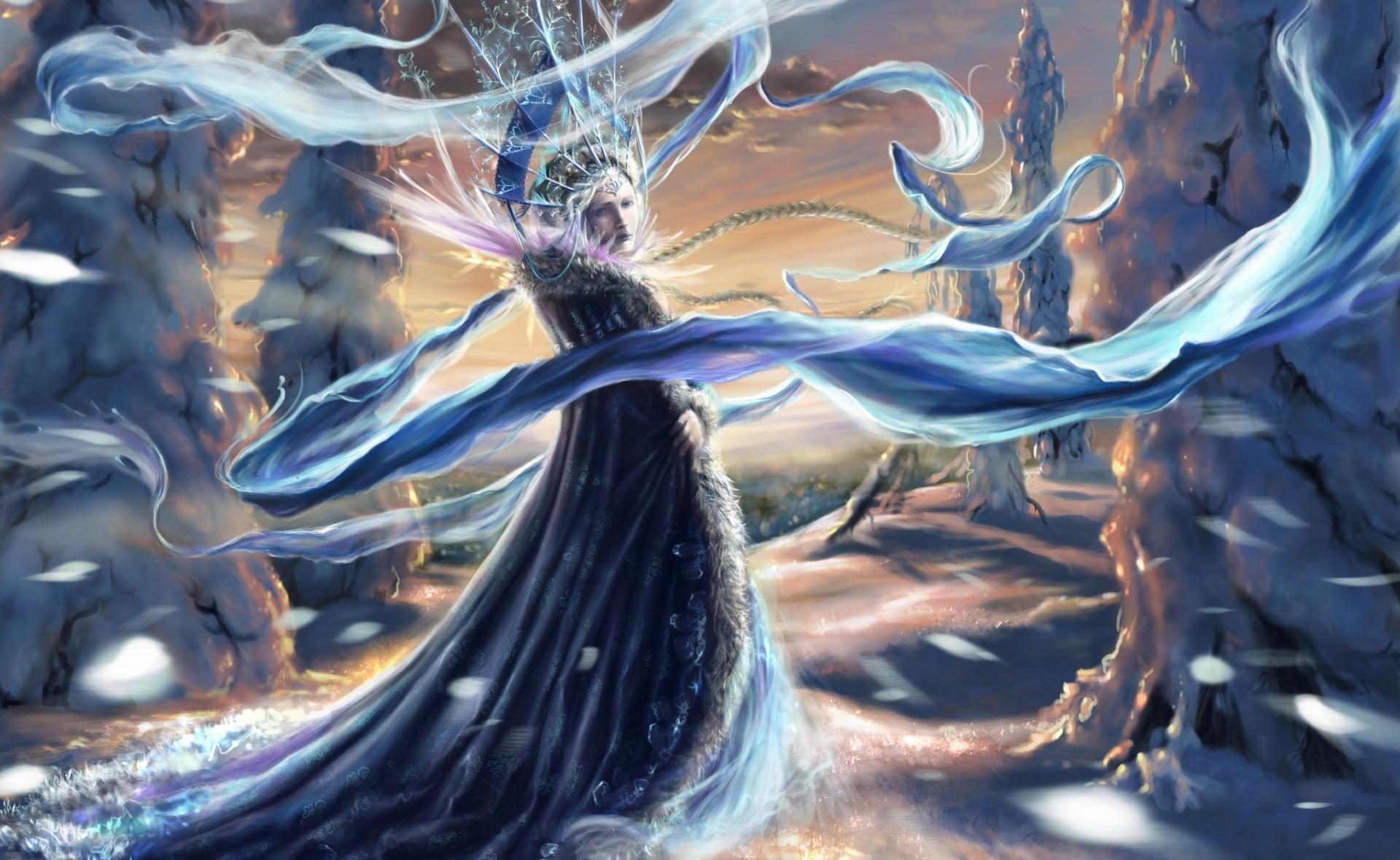 74679 скачать обои Фэнтези, Девушка, Снежная Королева, Холод, Лед, Снег - заставки и картинки бесплатно