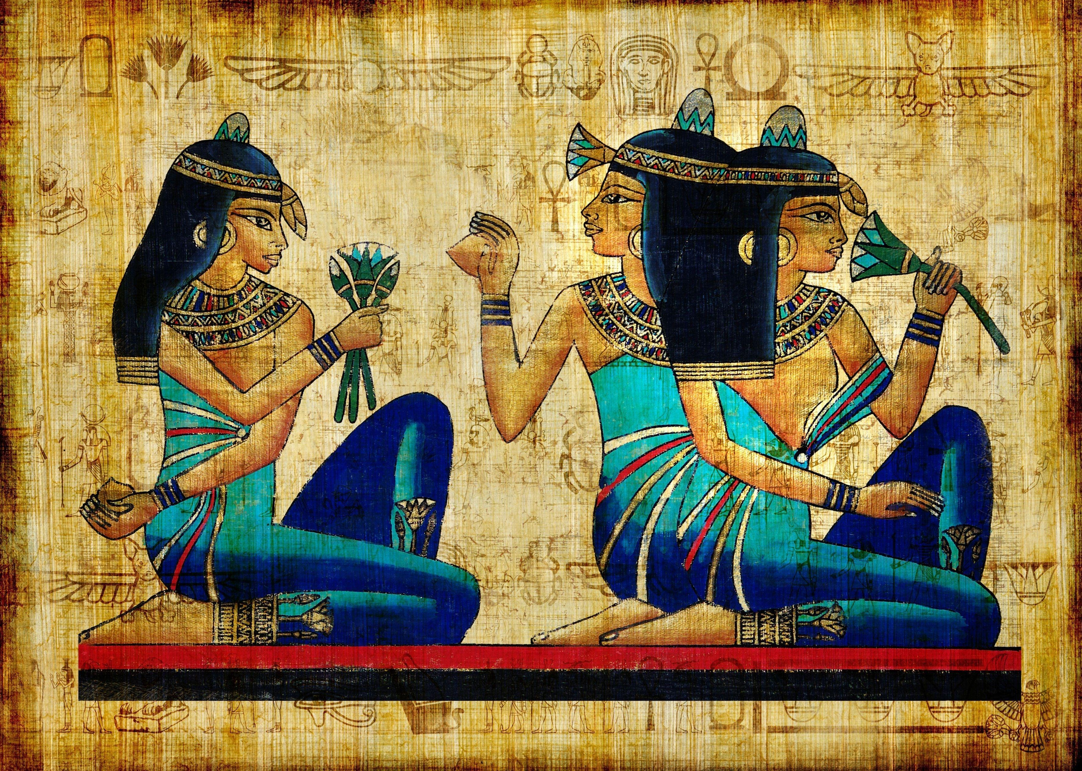 154959 Screensavers and Wallpapers Brunette for phone. Download Girls, Egypt, Miscellanea, Miscellaneous, Picture, Drawing, Brunette, Ancient, Antiquity, Brunettes pictures for free
