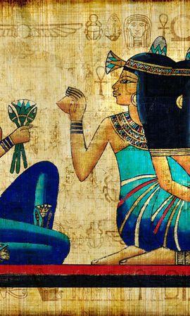 154959 скачать обои Разное, Ancient, Египет, Брюнетки, Девушки, Древность, Рисунок - заставки и картинки бесплатно