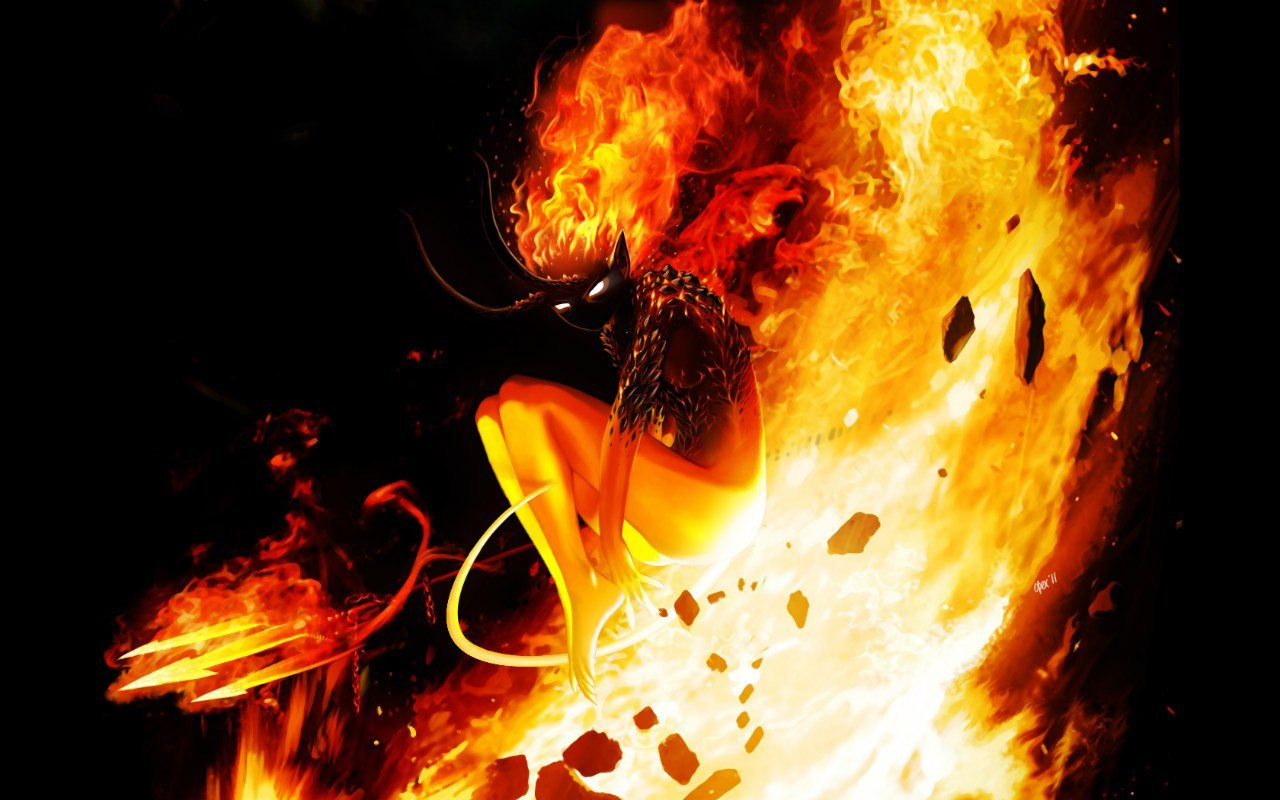 19617 Screensavers and Wallpapers Demons for phone. Download Fantasy, Fire, Demons pictures for free