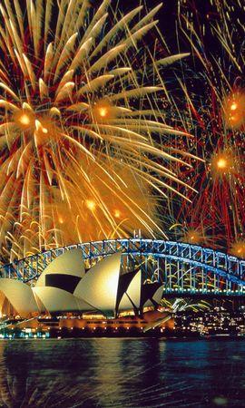 30285 скачать обои Пейзаж, Города, Ночь, Сидней (Sydney) - заставки и картинки бесплатно