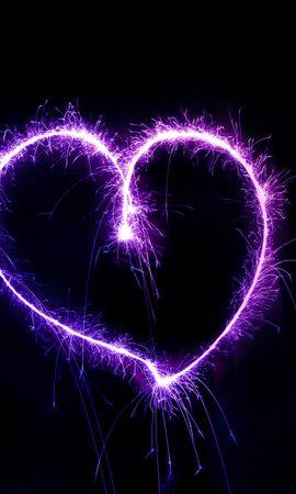 121866 télécharger le fond d'écran Amour, Un Cœur, Cœur, Étincelles, Sparks, La Forme, Forme, Briller, Éclat - économiseurs d'écran et images gratuitement