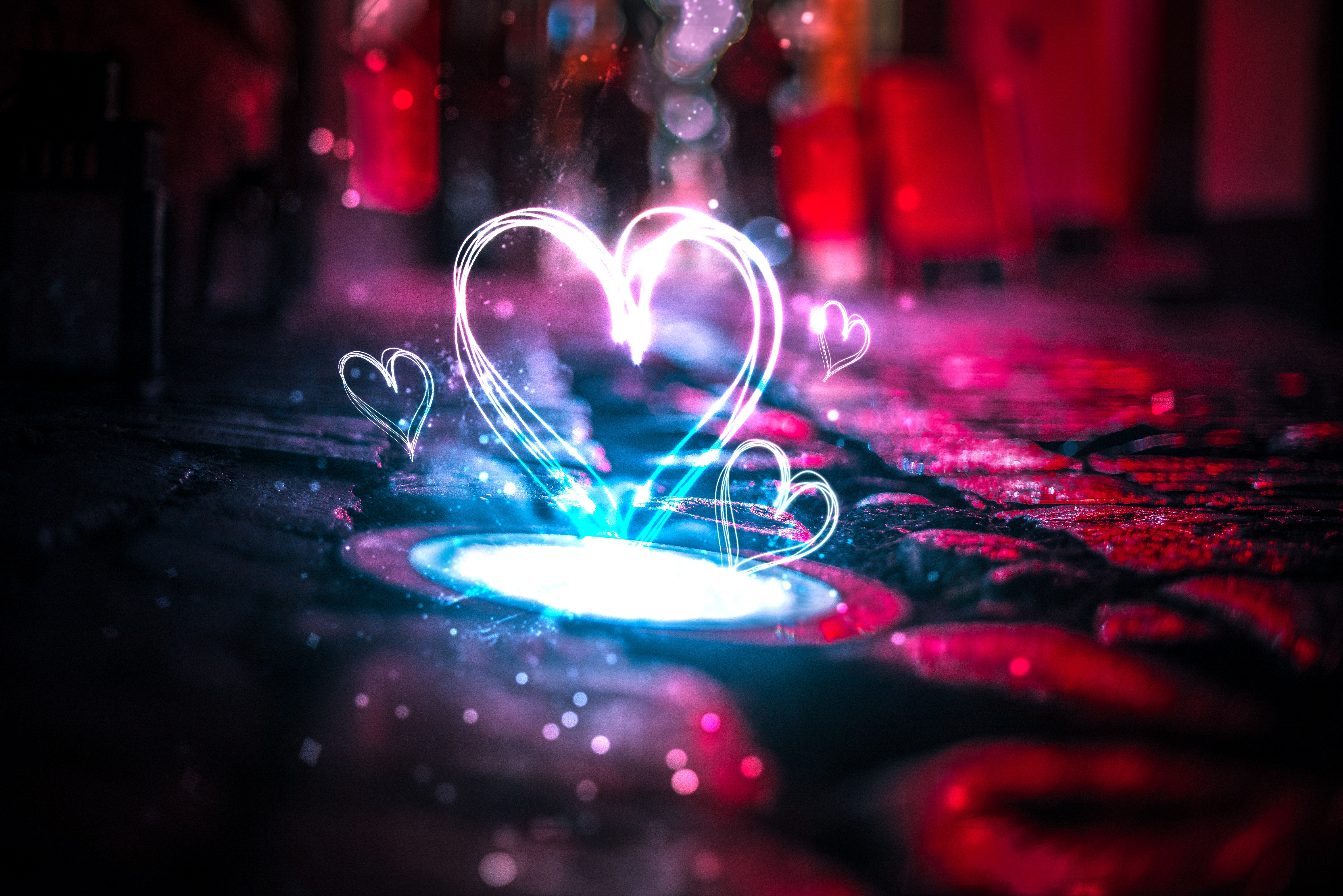 92926 download wallpaper Love, Heart, Shine, Light, Glare screensavers and pictures for free
