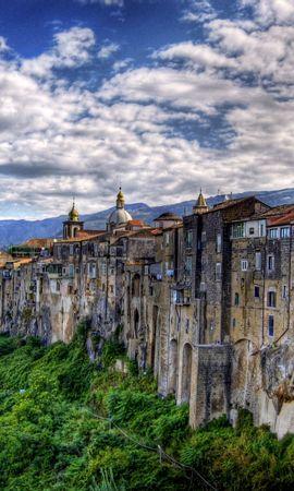1397 скачать обои Пейзаж, Дома, Небо, Арт, Архитектура - заставки и картинки бесплатно