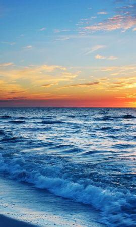 19920 скачать обои Пейзаж, Закат, Море, Облака, Волны - заставки и картинки бесплатно