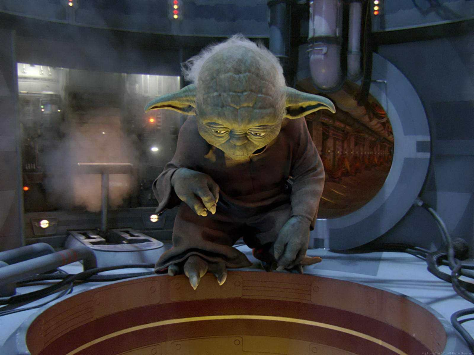 15447 download wallpaper Cinema, Star Wars, Master Yoda screensavers and pictures for free