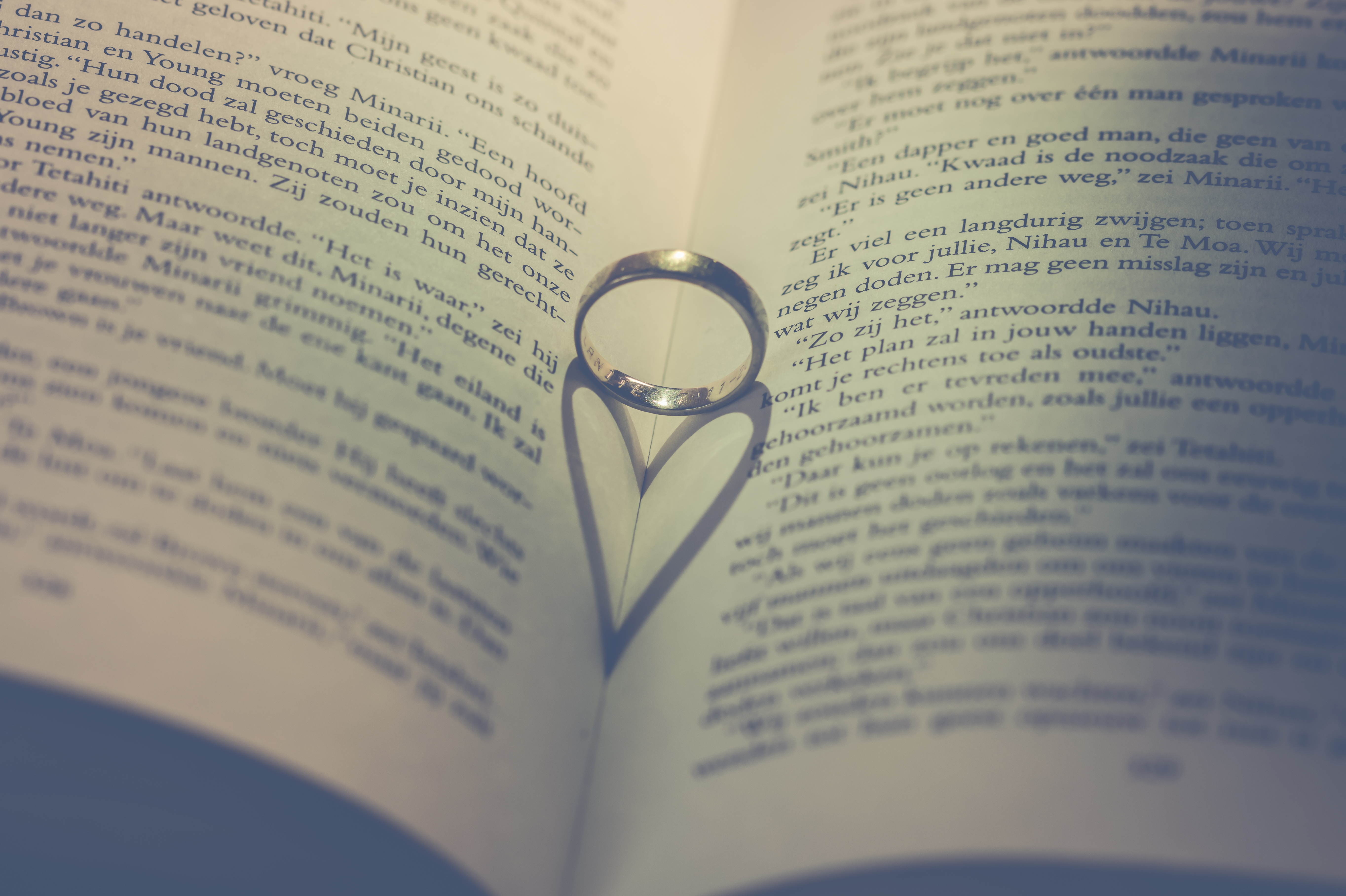155580 download wallpaper Book, Ring, Heart, Love screensavers and pictures for free