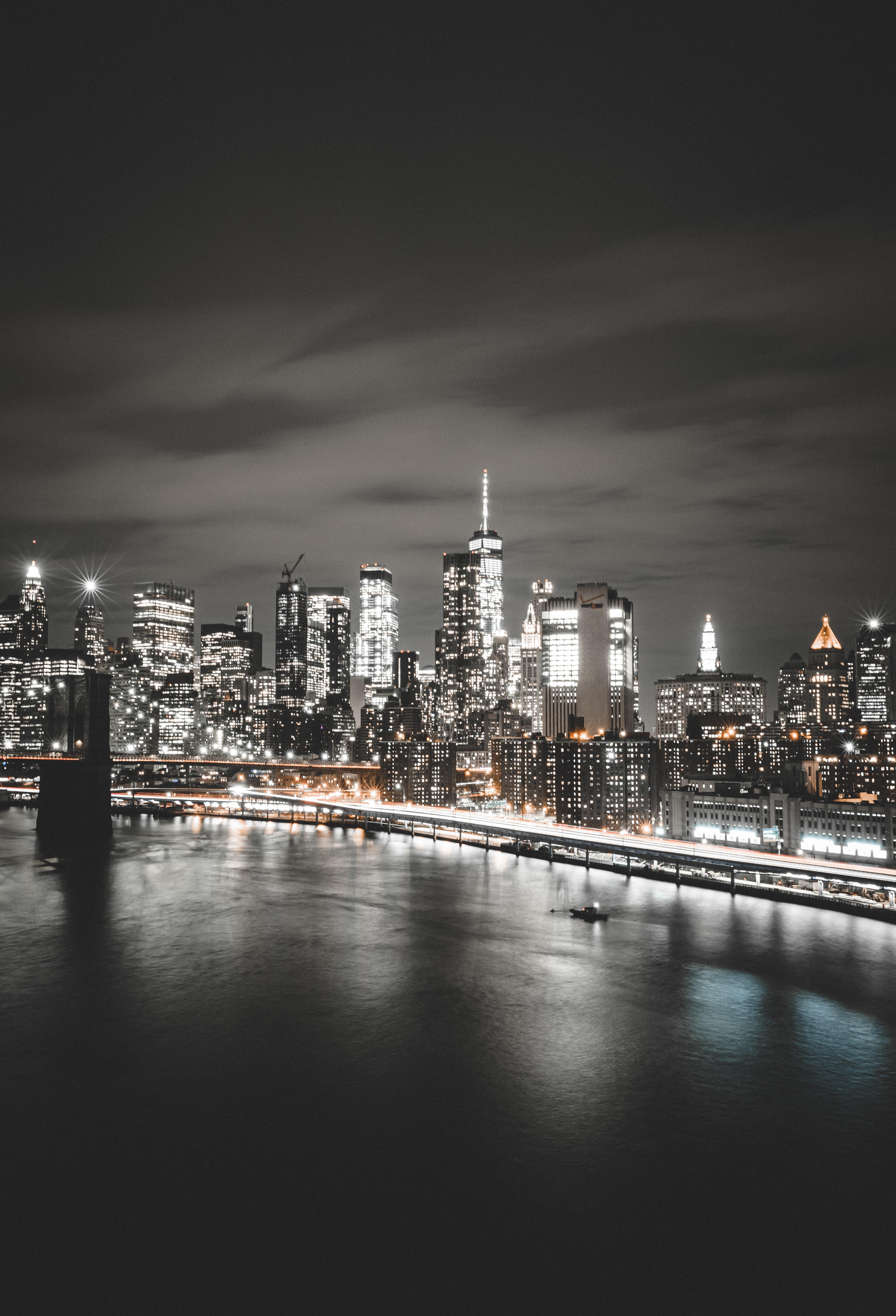 71938壁紙のダウンロード市, 都市, 建物, ライト, 海岸, ニューヨーク, ニューヨーク州-スクリーンセーバーと写真を無料で