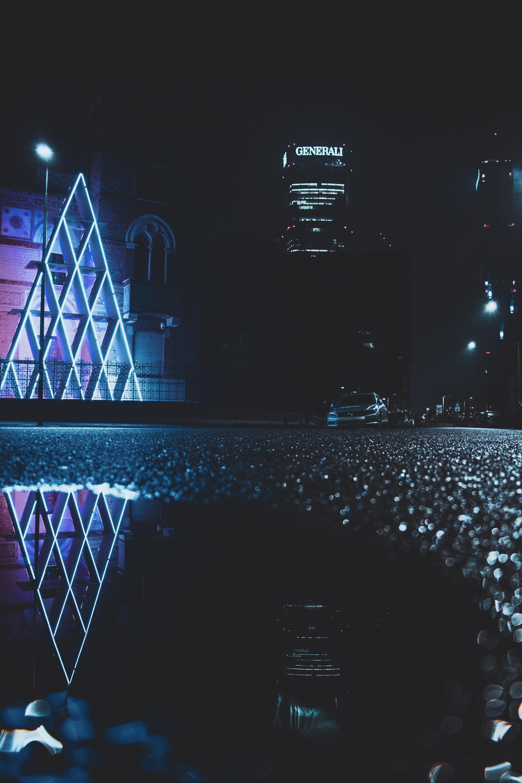 56232 Salvapantallas y fondos de pantalla Arquitectura en tu teléfono. Descarga imágenes de Ciudad De Noche, Ciudad Nocturna, Edificio, Carro, Coche, Asfalto, Arquitectura, Ciudades gratis