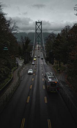 101217 скачать обои Дорога, Мост, Транспорт, Движение, Ванкувер, Канада, Города - заставки и картинки бесплатно