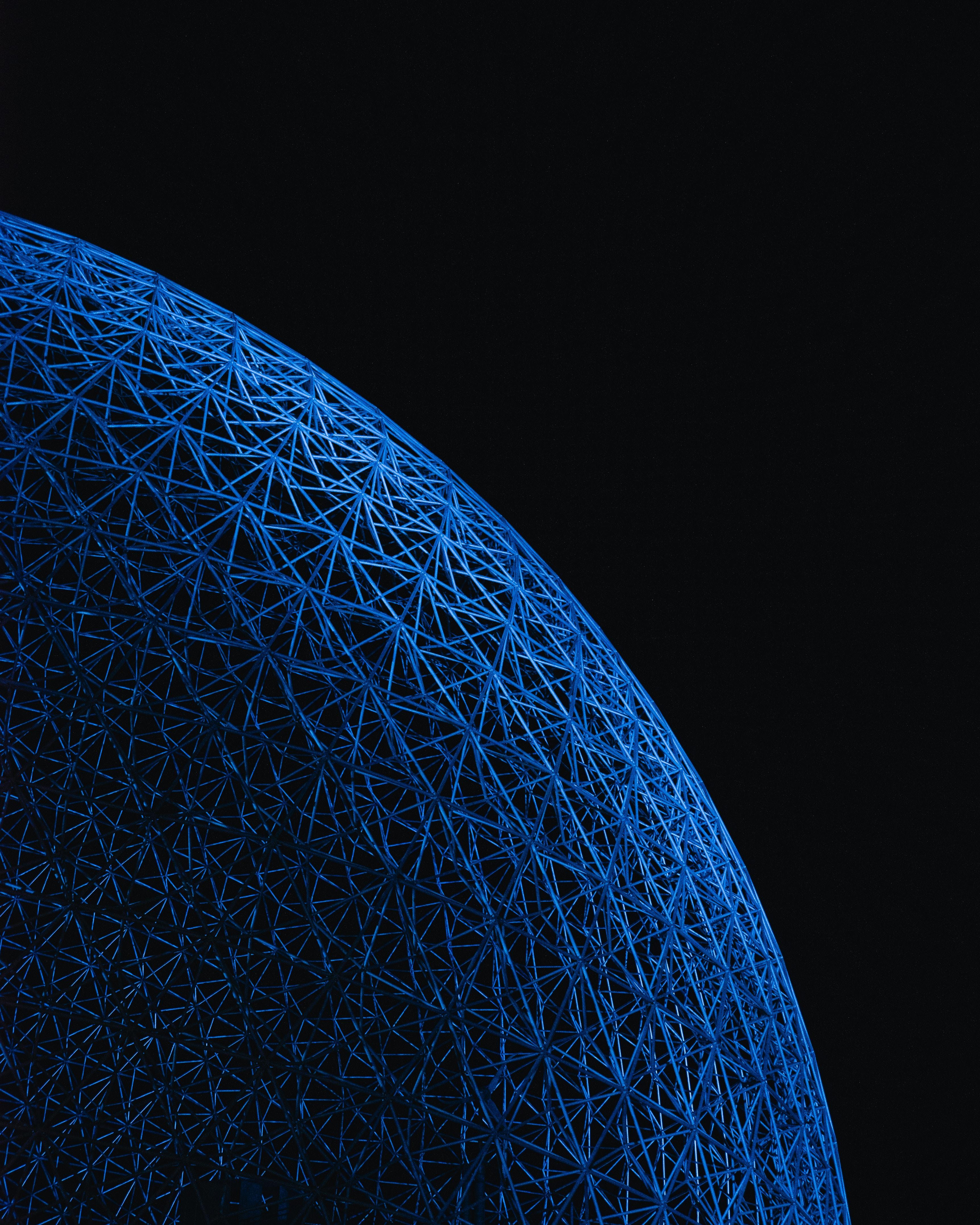 126076 免費下載壁紙 杂项, 球, 领域, 球体, 表面, 柳条, 编织, 蓝色的 屏保和圖片