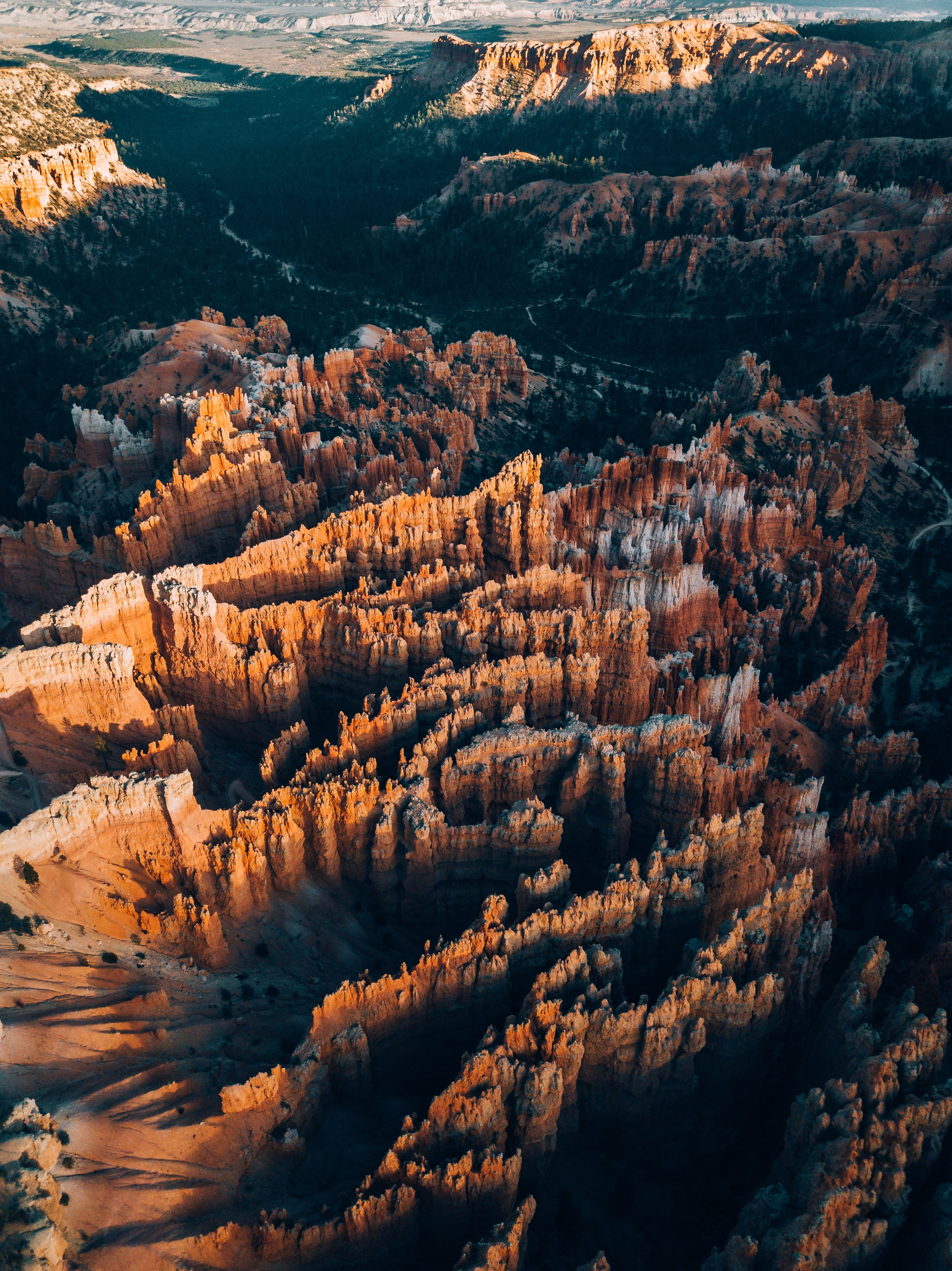 157406 download wallpaper Nature, Canyon, Rocks, Aerial View, Rivers, Forest, Relief, Landscape screensavers and pictures for free