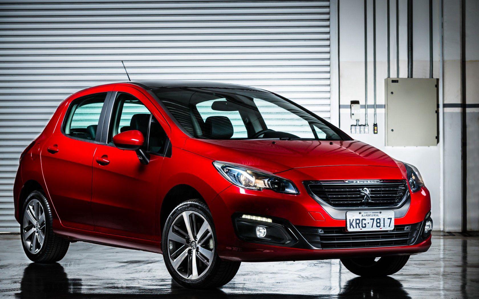 68199 скачать обои Пежо (Peugeot), Тачки (Cars), Красный, Вид Сбоку, 308 - заставки и картинки бесплатно