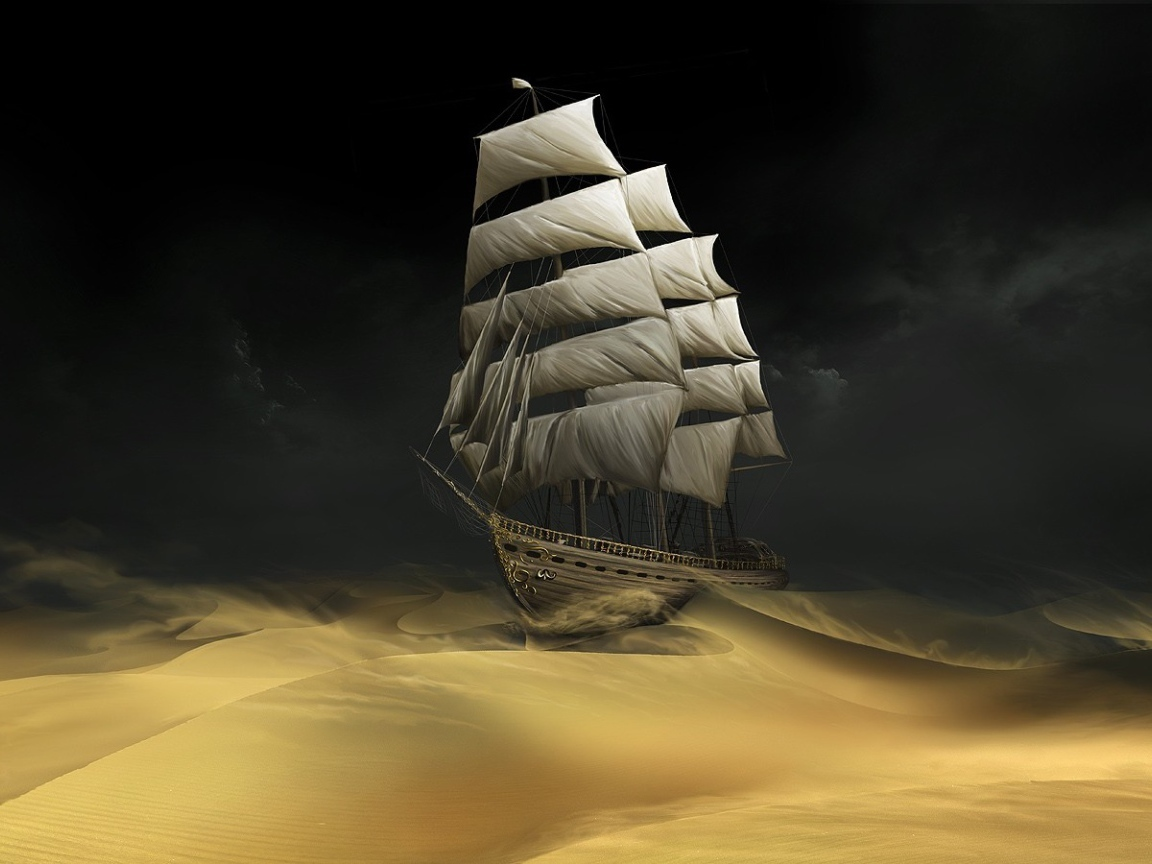 20487 download wallpaper Transport, Ships, Sand, Desert, Pictures screensavers and pictures for free