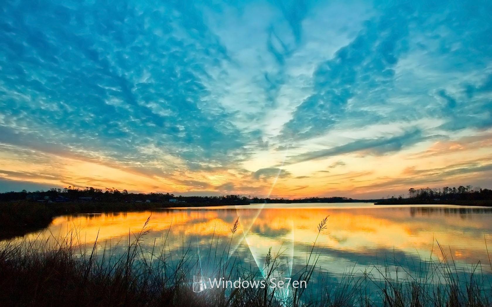 1151 скачать обои Windows, Пейзаж, Вода, Закат, Небо - заставки и картинки бесплатно
