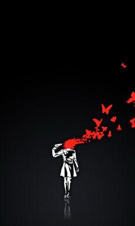 Baixar papel de parede gratuito 10850: papel de parede Anime, Borboletas, Morte para telefone celular