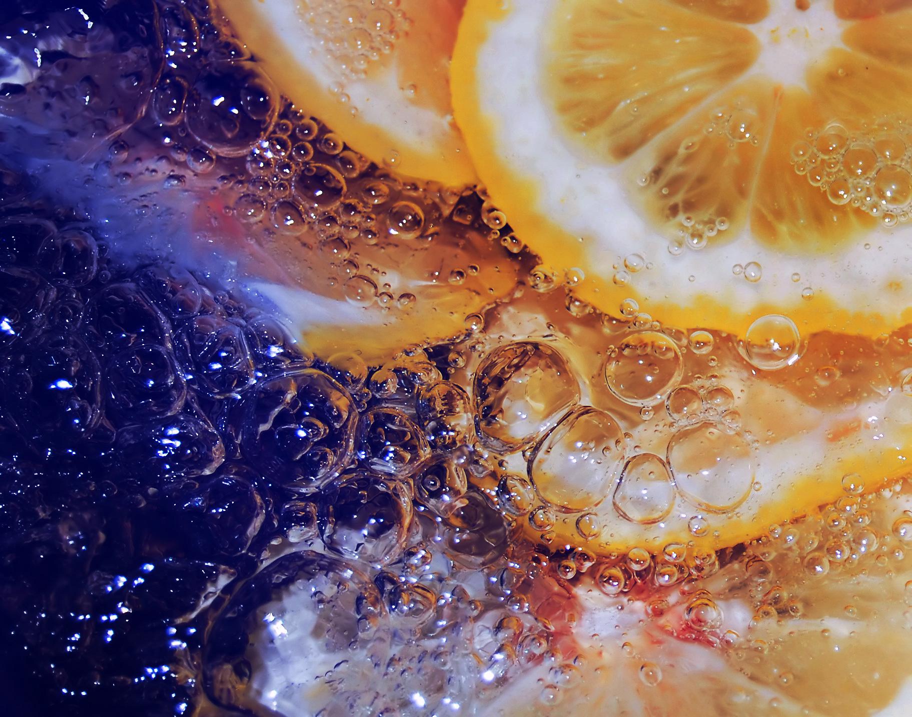 92946 скачать обои Макро, Лимон, Лед, Вода - заставки и картинки бесплатно