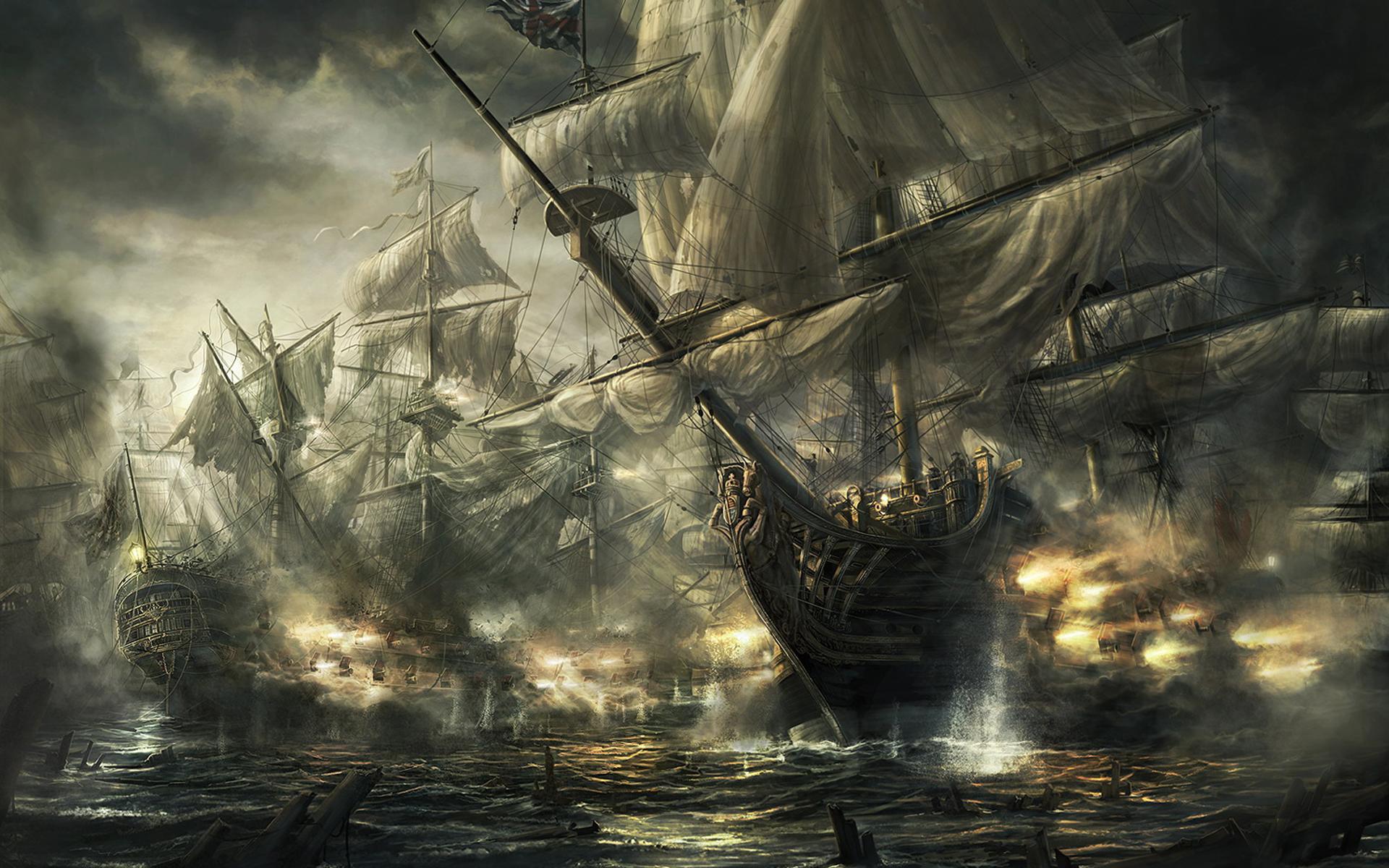 49952 скачать обои Корабли, Транспорт, Рисунки - заставки и картинки бесплатно