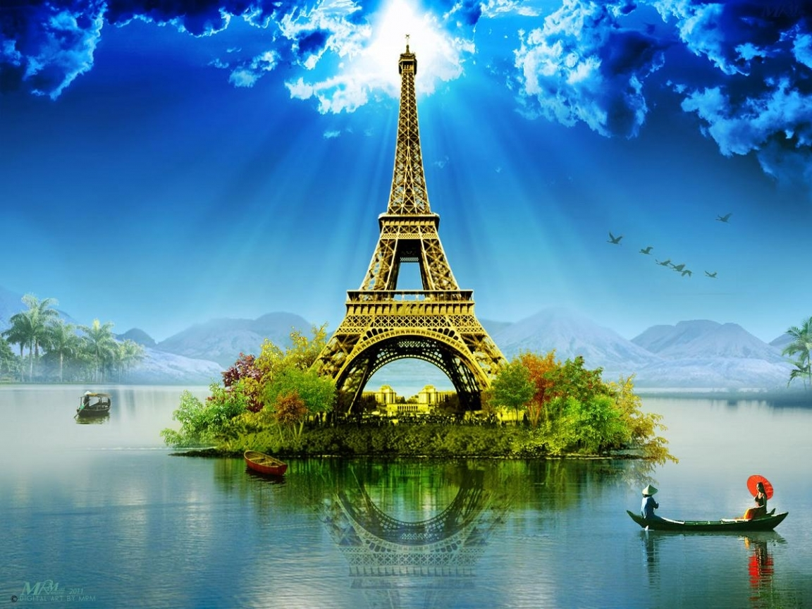 44267 download wallpaper Landscape, Eiffel Tower, Pictures screensavers and pictures for free