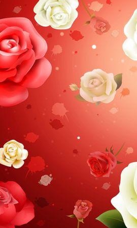 2934 скачать обои Растения, Цветы, Фон, Розы - заставки и картинки бесплатно