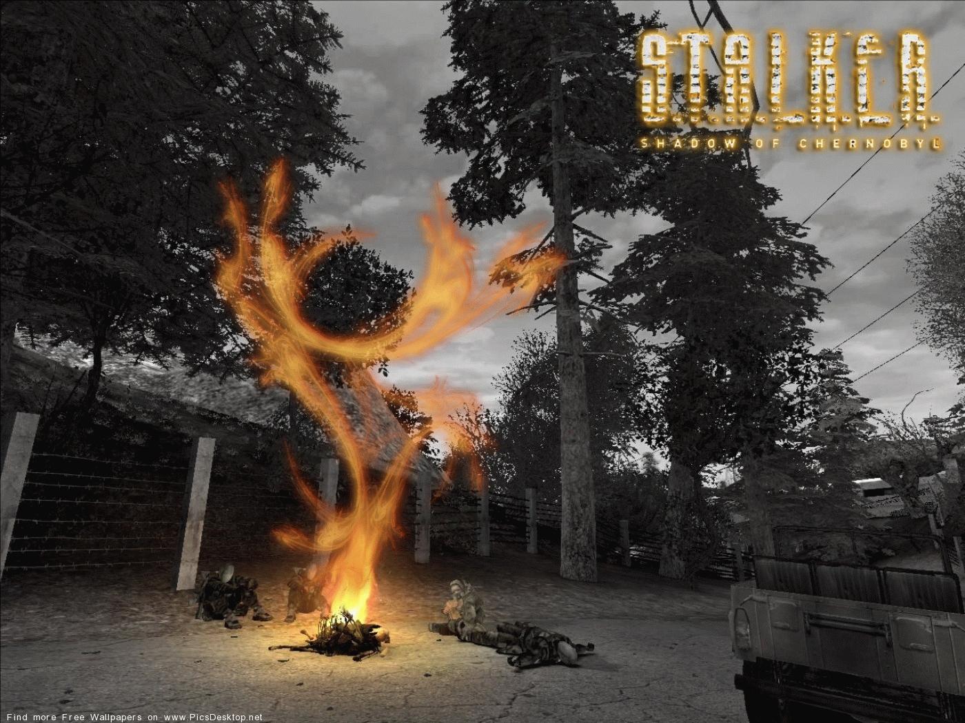7269 免費下載壁紙 游戏, 火, 篝火, S.t.a.l.k.e.r., S.t.a.l.k.e.r.切尔诺贝利的阴影 屏保和圖片