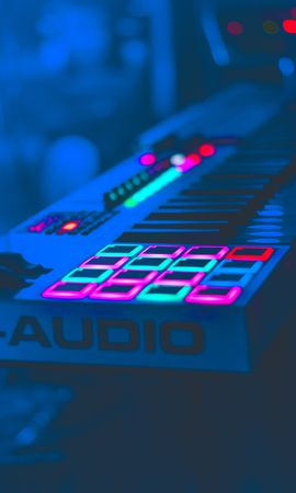 155034 Screensavers and Wallpapers Music for phone. Download Music, Neon, Keys, Equipment, Apparatus, Audio pictures for free