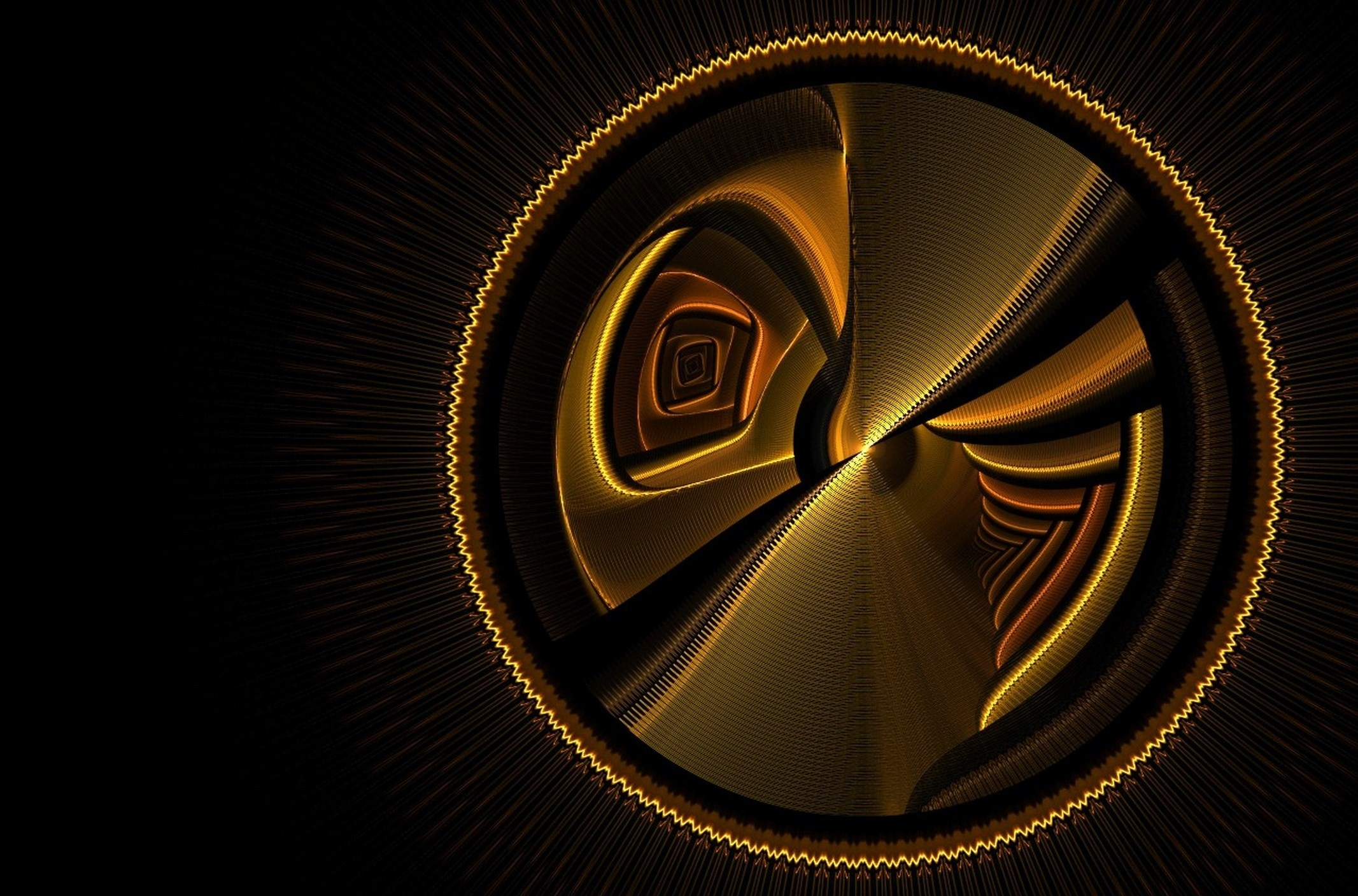 118769 Hintergrundbild herunterladen Kreise, Abstrakt, Hintergrund, Dunkel, Linien - Bildschirmschoner und Bilder kostenlos