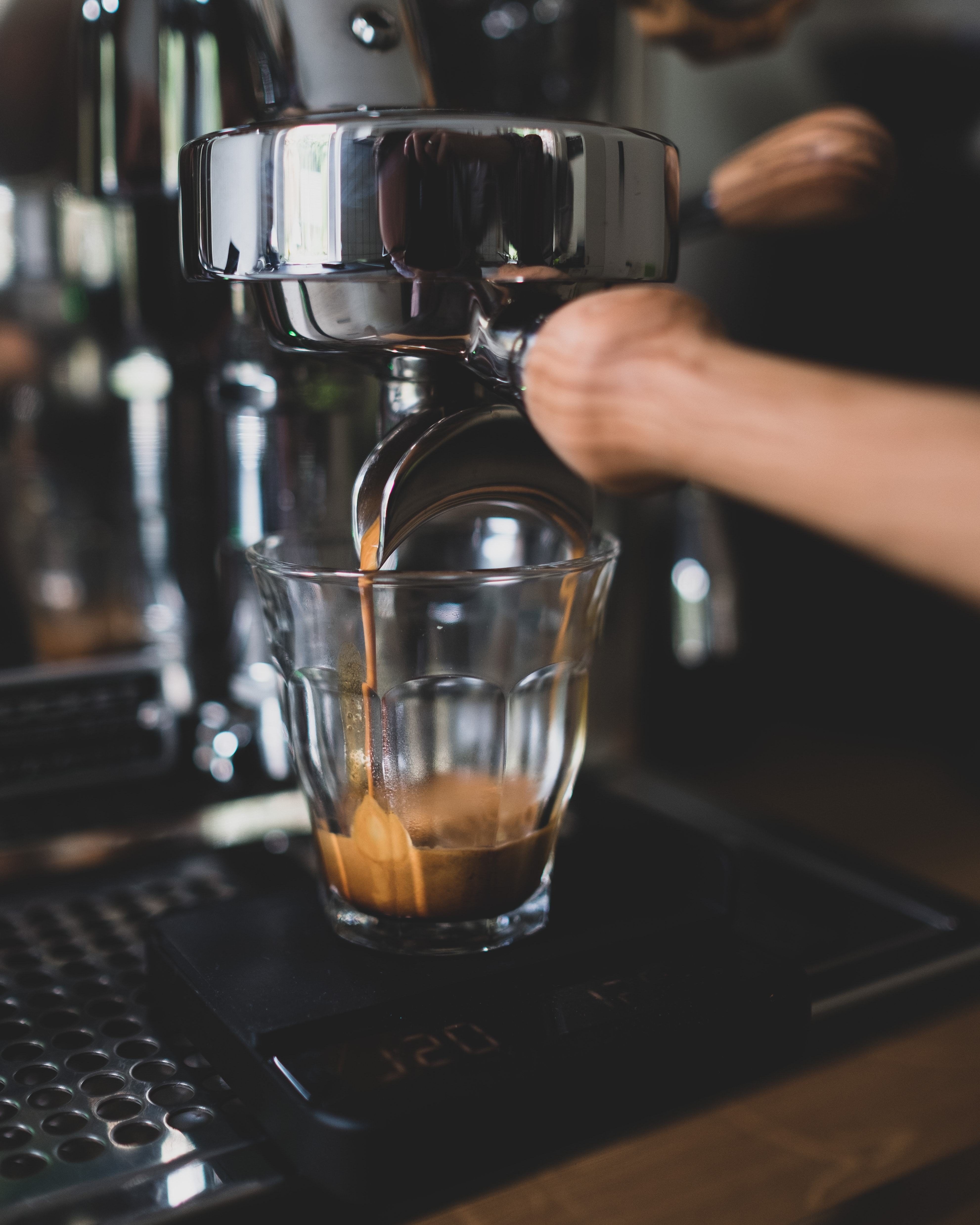 54106 download wallpaper Miscellanea, Miscellaneous, Coffee, Glass, Coffee Machine, Metal, Metallic, Drink, Beverage screensavers and pictures for free