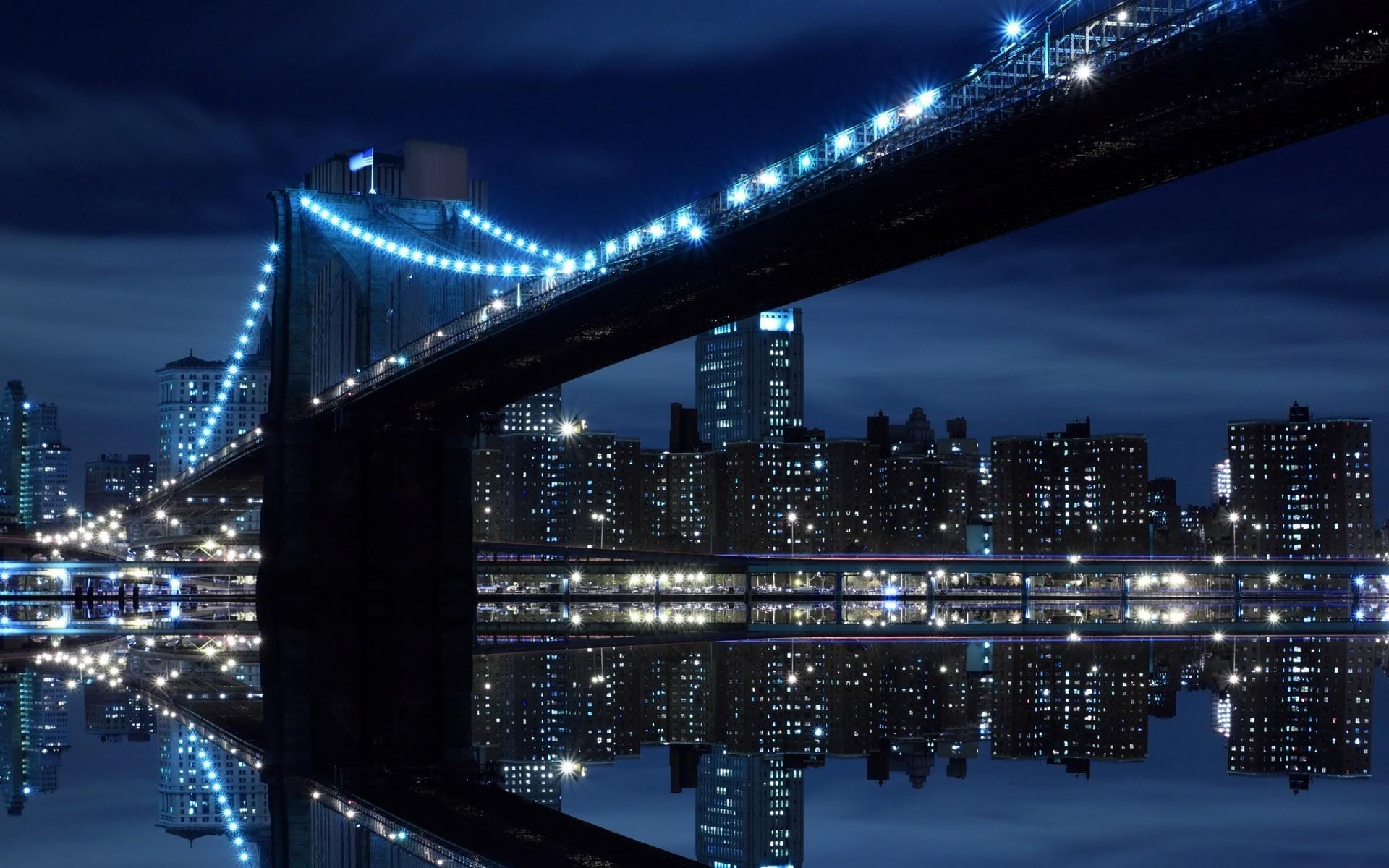 19933 скачать обои Пейзаж, Города, Мосты, Ночь - заставки и картинки бесплатно