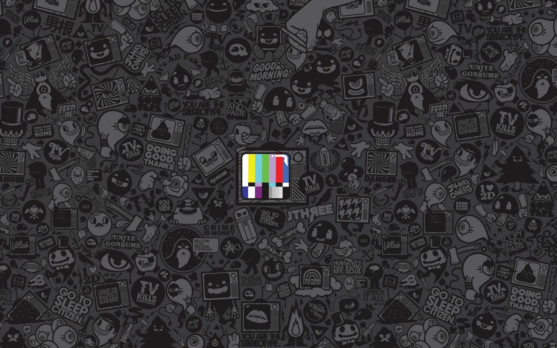 120562 скачать обои Минимализм, Tv, Текстура, Полосы, Рисунки - заставки и картинки бесплатно