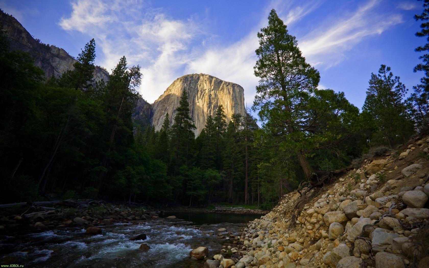 27397 скачать обои Пейзаж, Река, Деревья, Горы - заставки и картинки бесплатно