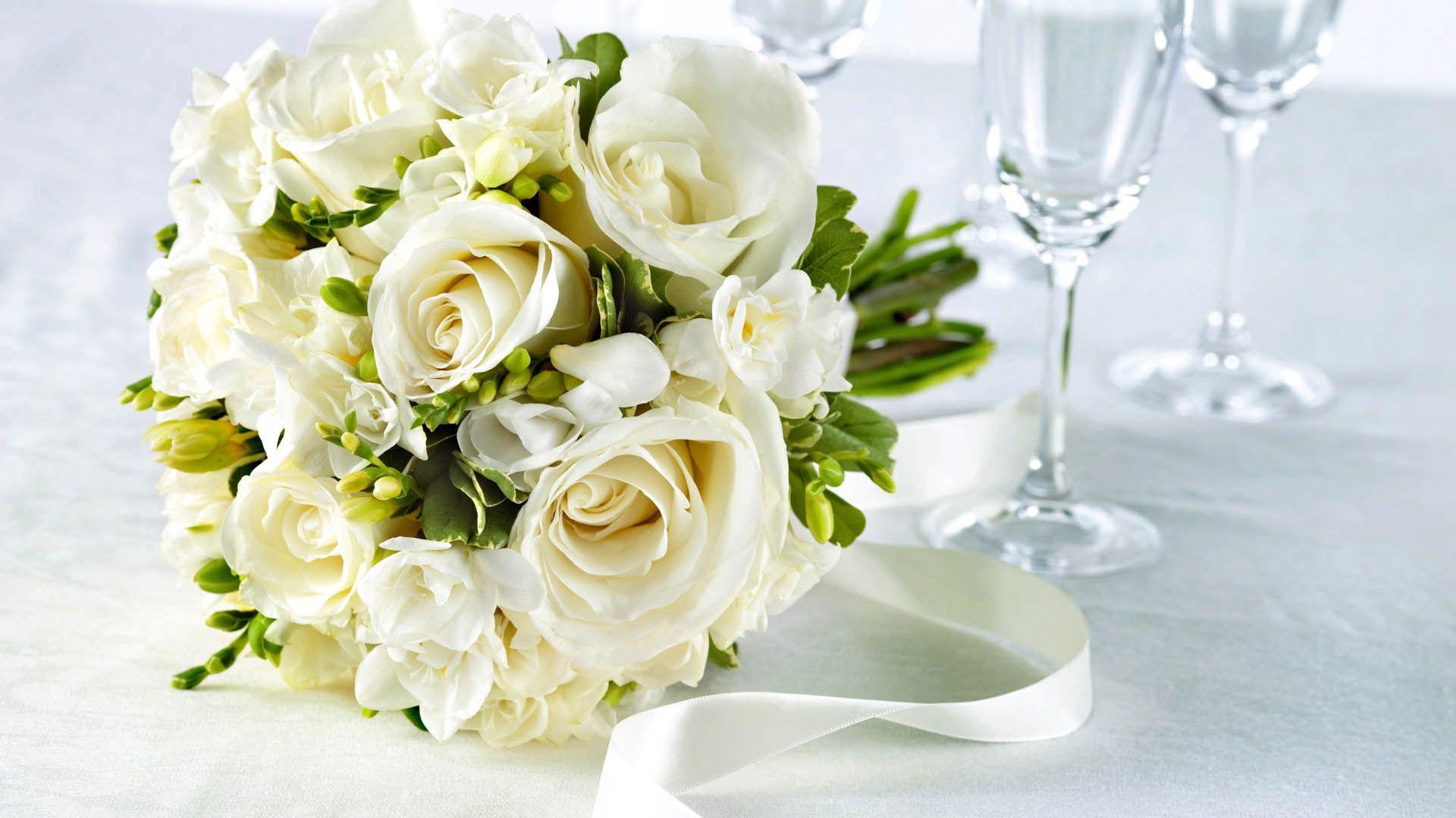 80385 скачать обои Розы, Оформление, Цветы, Букет, Белый - заставки и картинки бесплатно