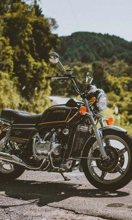 145292 télécharger le fond d'écran Moto, Honda, Motocyclette, Bicyclette, Vélo, Le Noir, Vue De Côté - économiseurs d'écran et images gratuitement