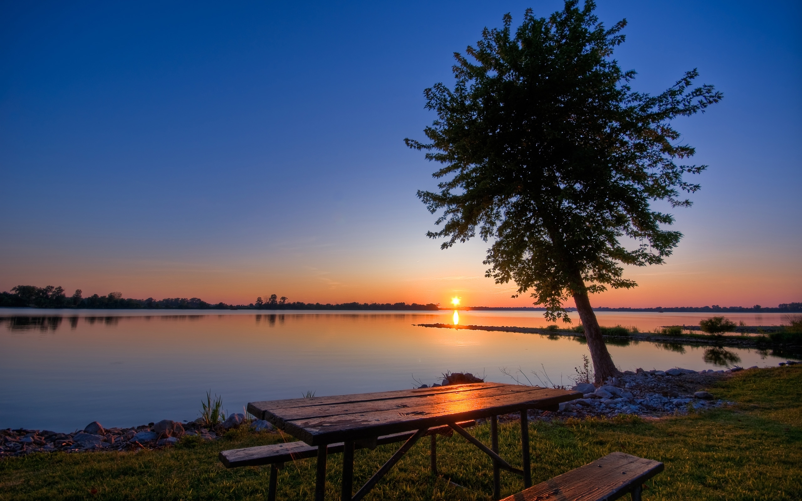 4705 download wallpaper Landscape, Water, Rivers, Trees, Sunset, Sun screensavers and pictures for free