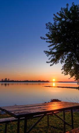 4705 скачать обои Пейзаж, Вода, Река, Деревья, Закат, Солнце - заставки и картинки бесплатно