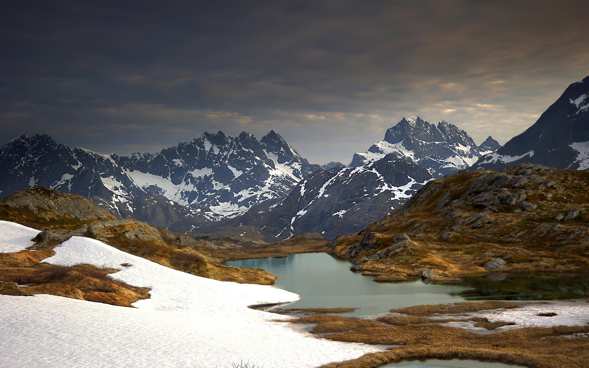 22776 скачать обои Пейзаж, Горы, Снег, Озера - заставки и картинки бесплатно
