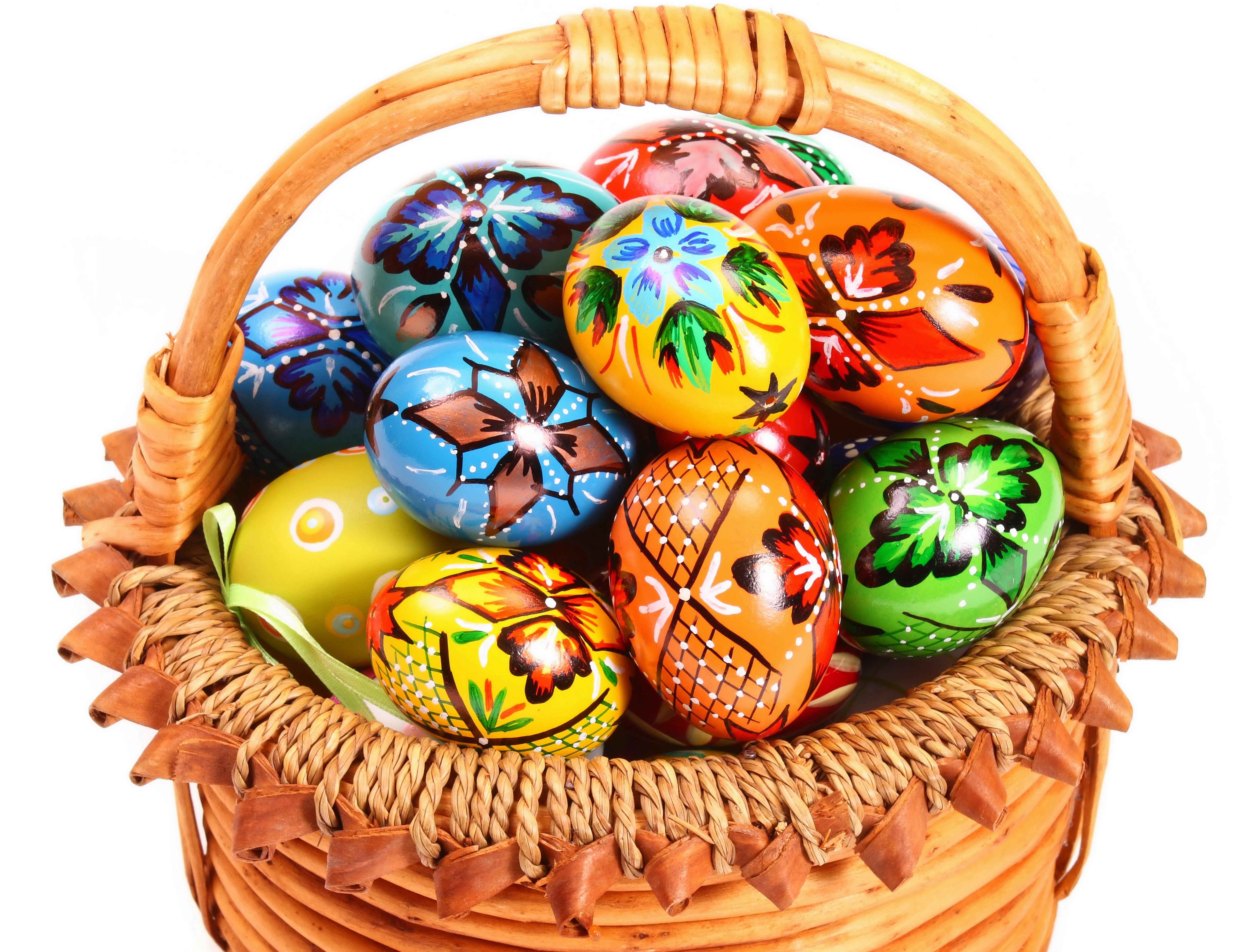 136300 descargar fondo de pantalla Miscelánea, Misceláneo, Cesta, Canasta, Pascua, Huevos: protectores de pantalla e imágenes gratis