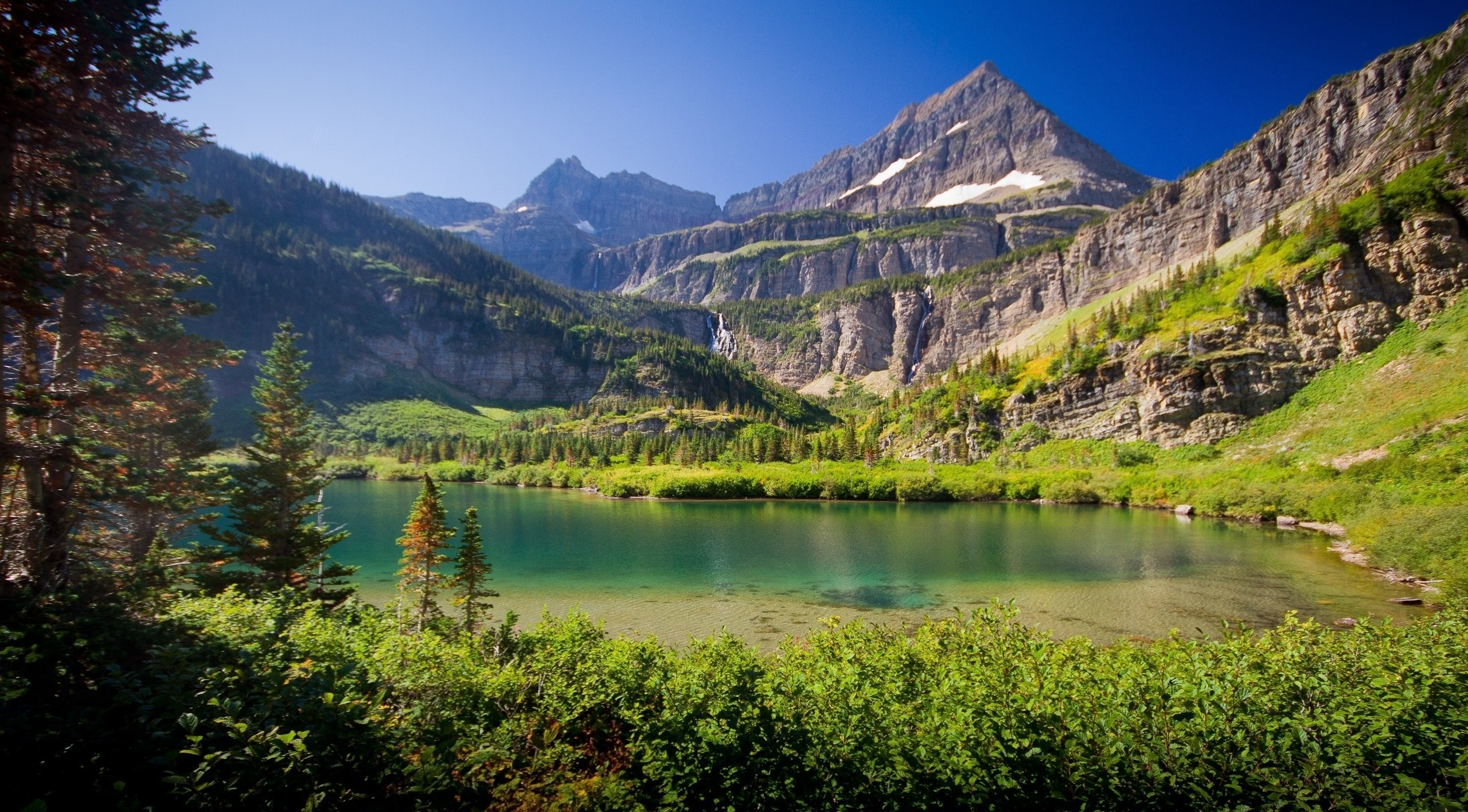 127047 Screensavers and Wallpapers Summer for phone. Download Nature, Lake, Grass, Sky, Mountains, Summer pictures for free