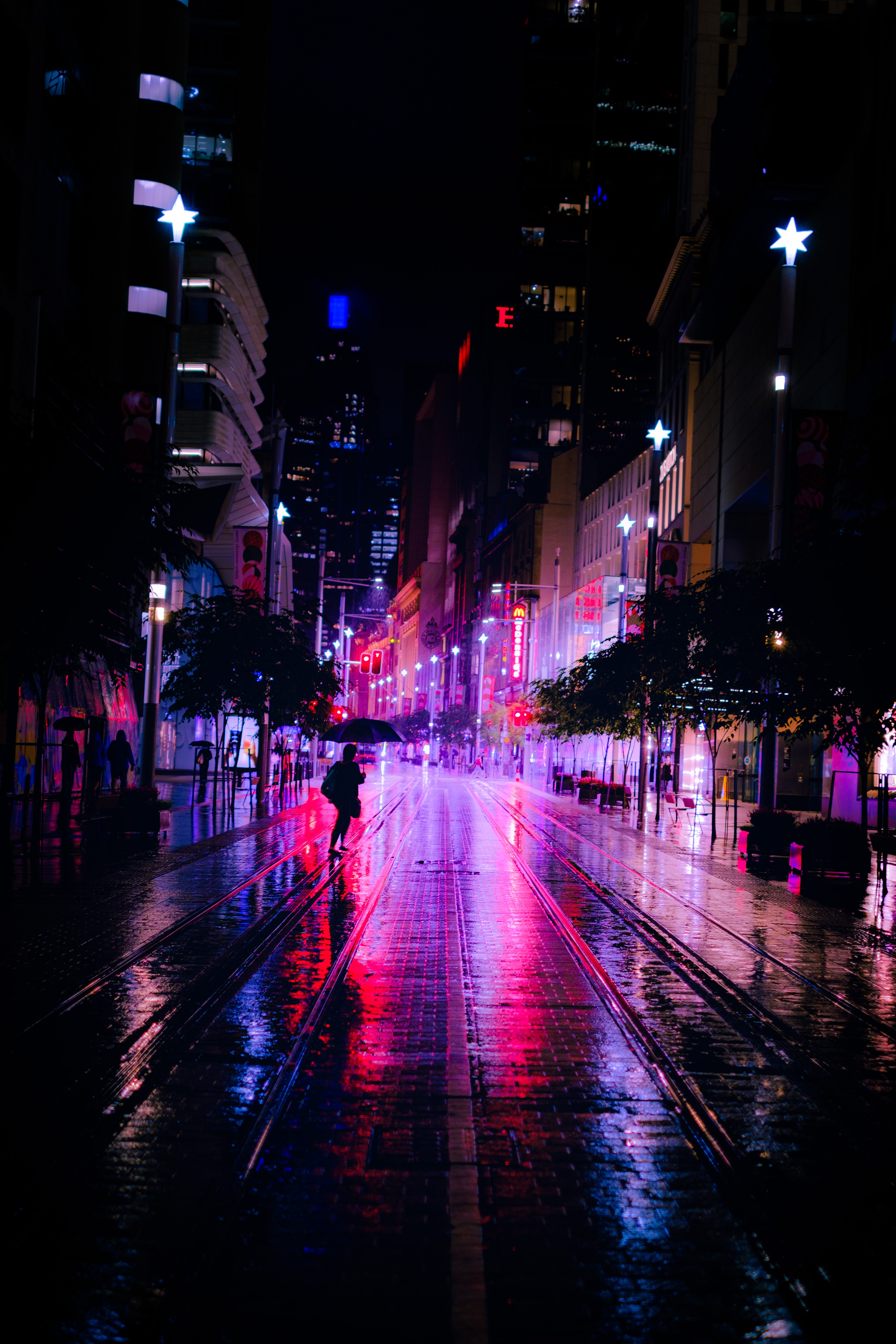 139745 Screensavers and Wallpapers Street for phone. Download Neon, Night, Dark, Silhouettes, Street pictures for free