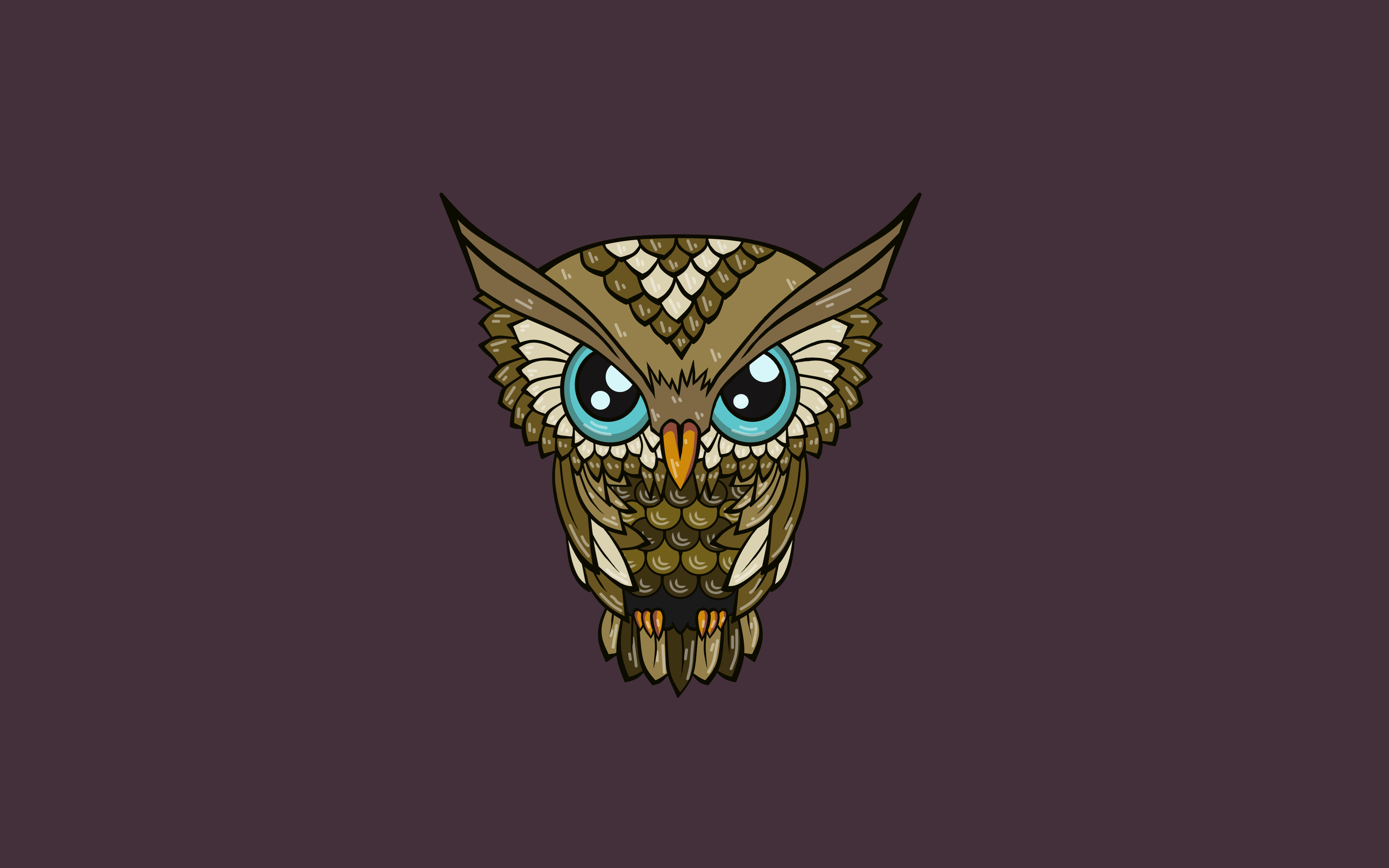 137980 download wallpaper Minimalism, Art, Owl, Vector screensavers and pictures for free