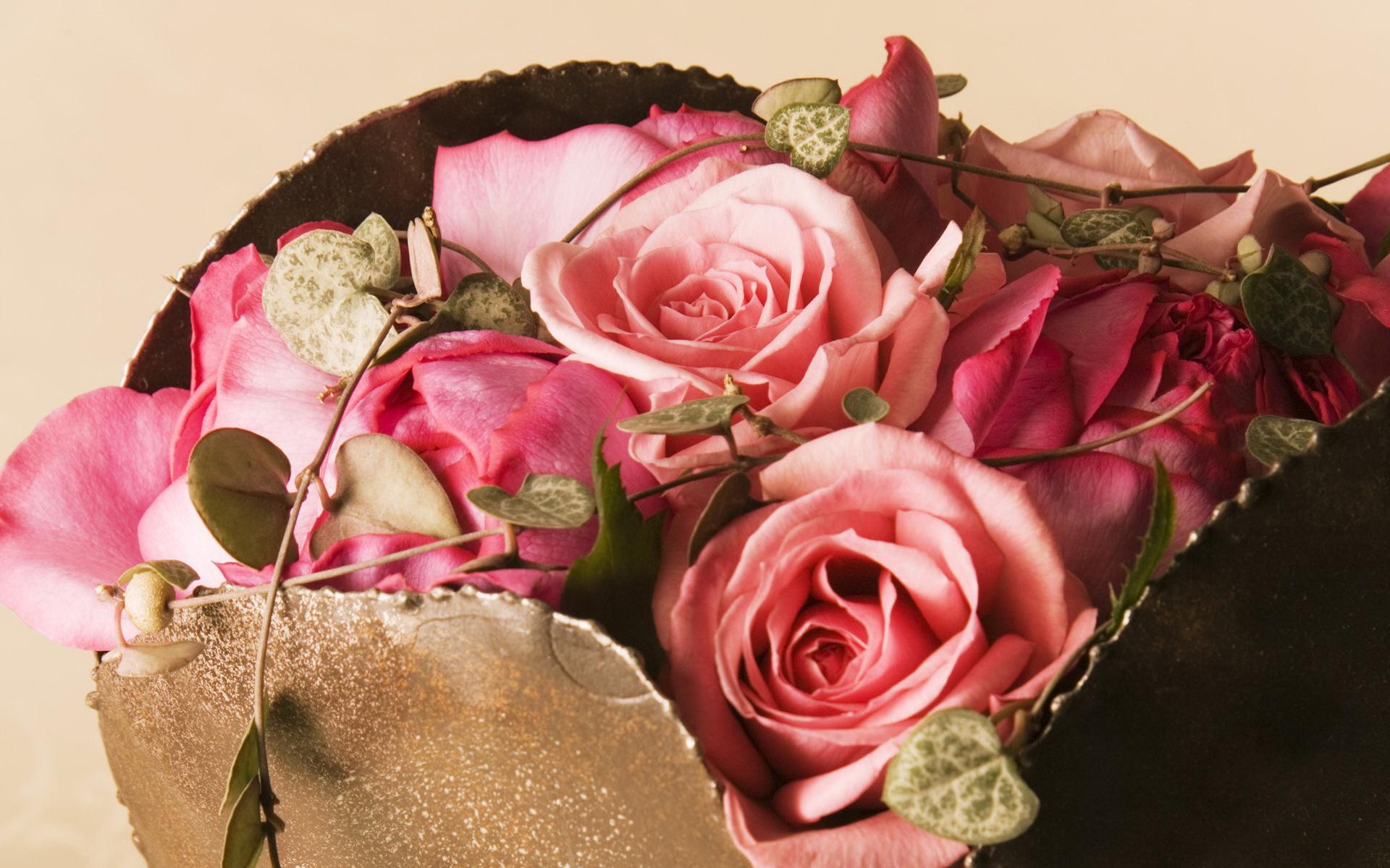 33362 скачать обои Растения, Цветы, Розы, Букеты - заставки и картинки бесплатно