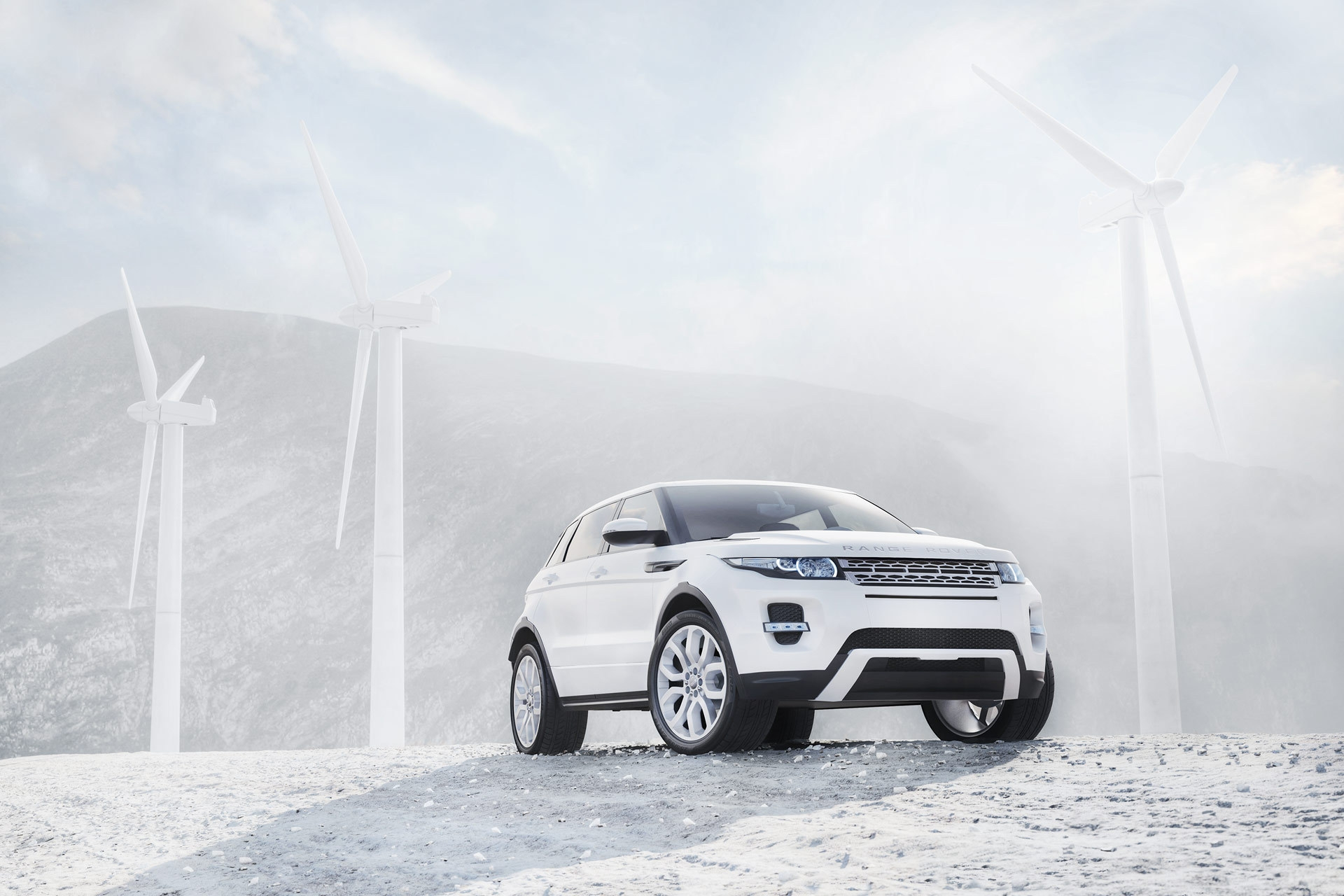 113774 download wallpaper Cars, Range Rover, Wind Turbines, Windmills, Suv, Parquetnik, Jeep, Land Rover screensavers and pictures for free