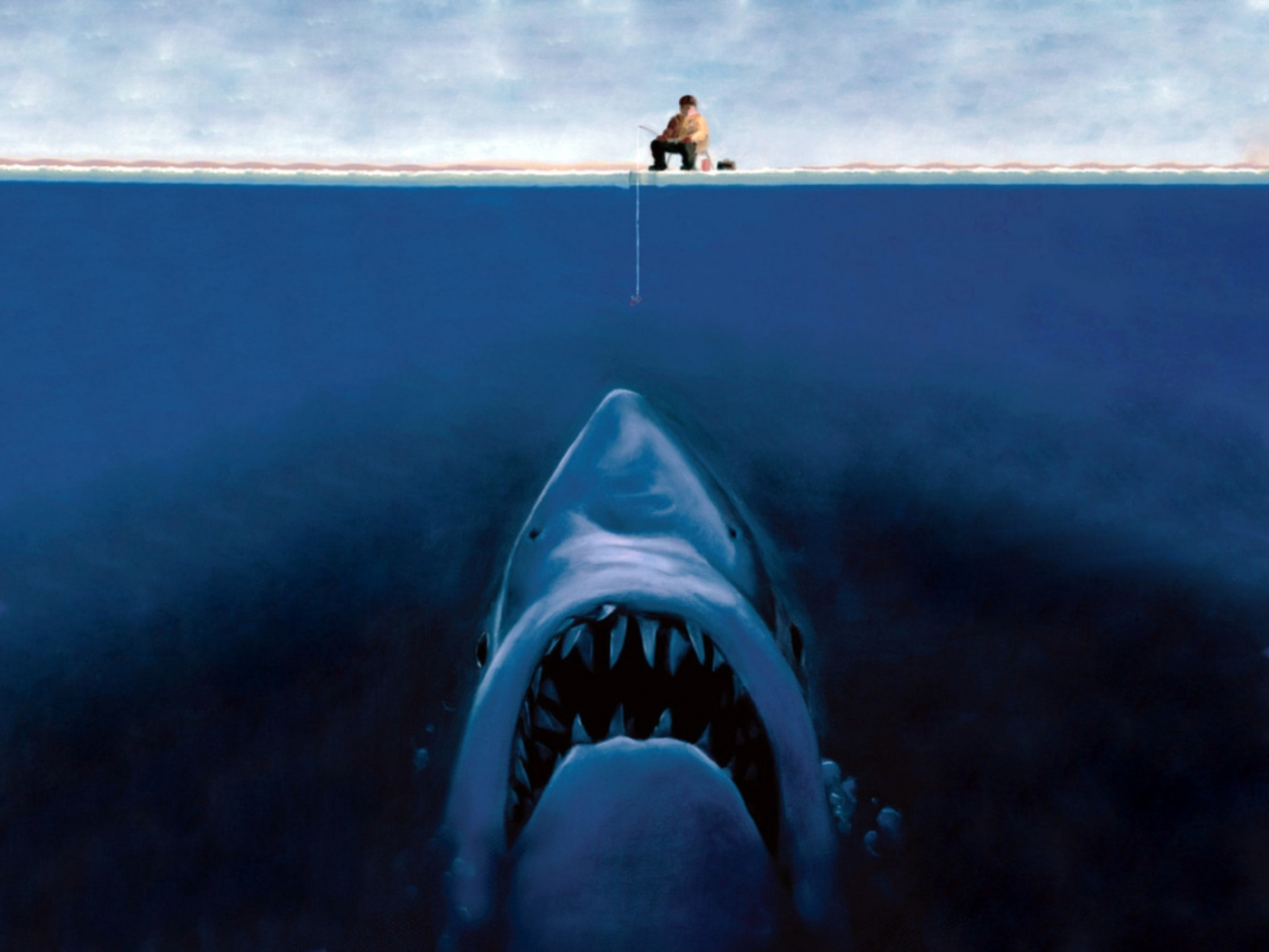 32107 download wallpaper Funny, People, Sharks, Pictures screensavers and pictures for free